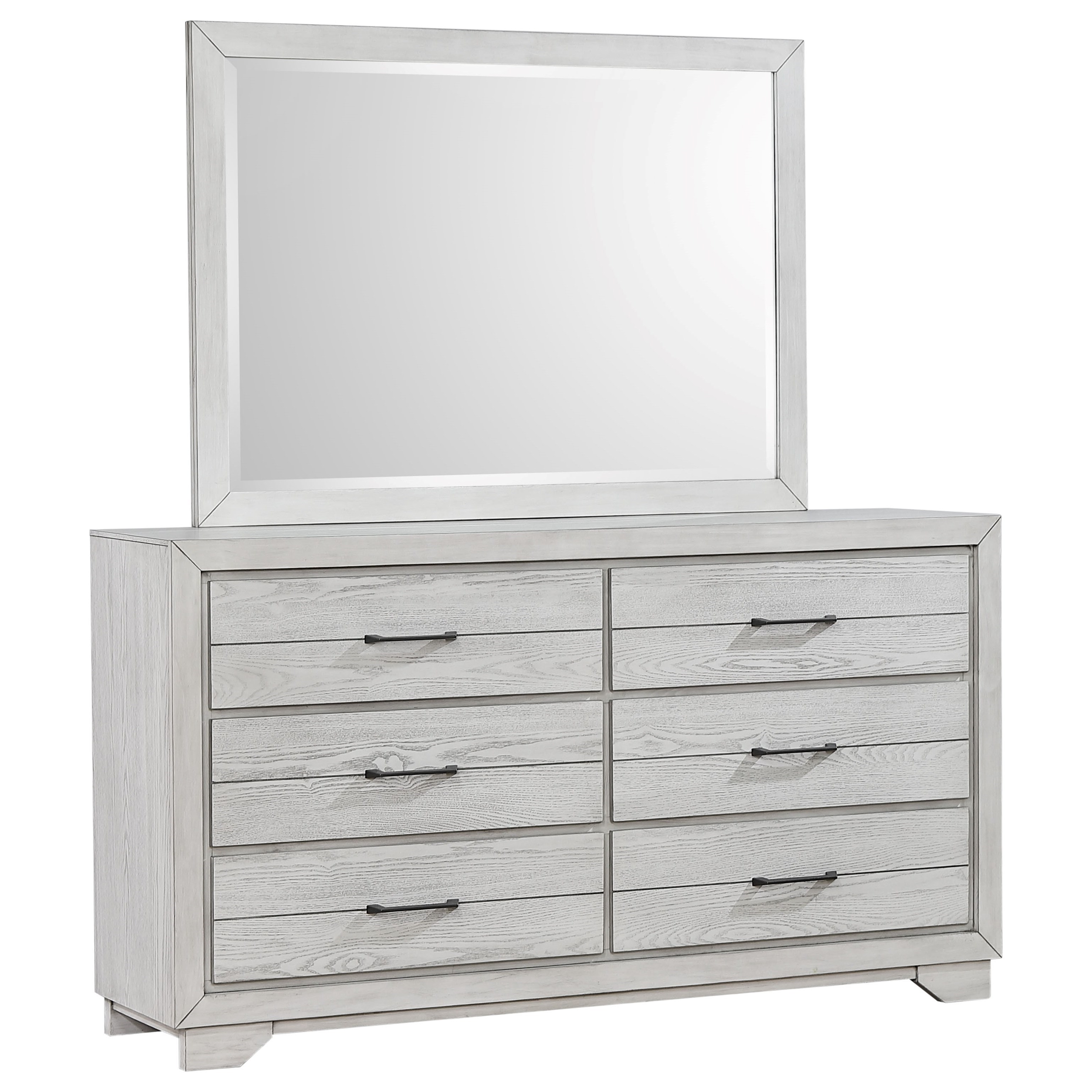 White Sands Dresser and Mirror by Crown Mark at Darvin Furniture