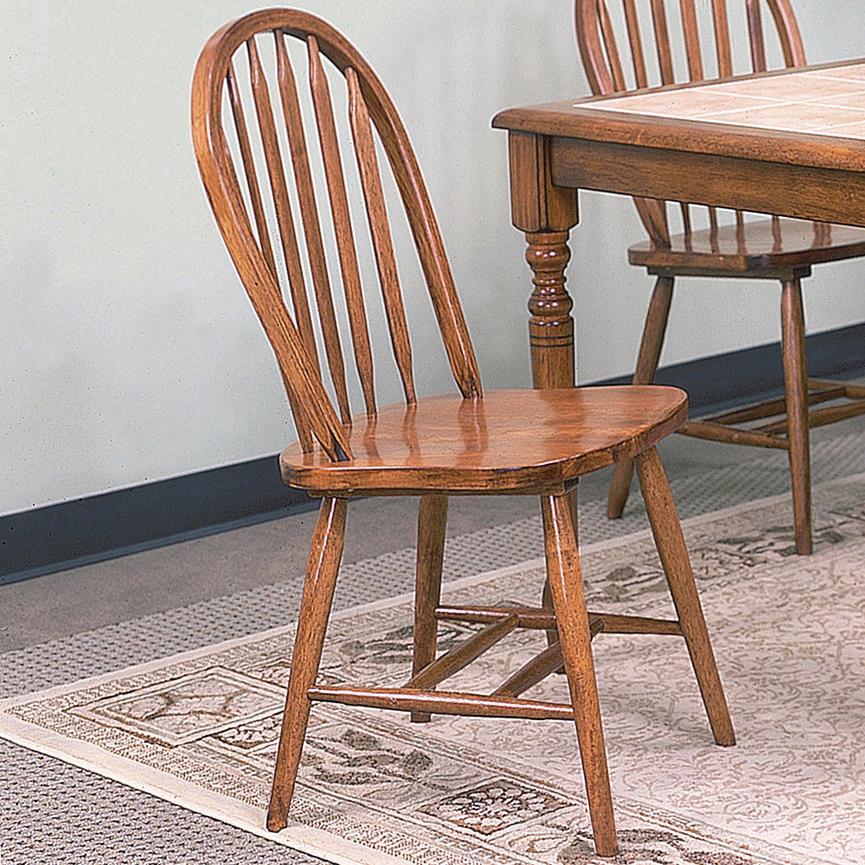 crown mark windsor solid 2305d oak rta dark oak dining side chair dunk bright furniture. Black Bedroom Furniture Sets. Home Design Ideas
