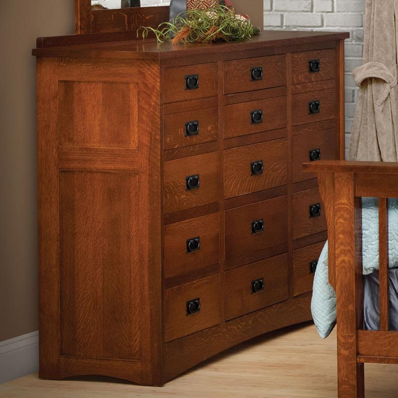 Daniel s Amish Mission 15 Drawer Solid Wood Triple Dresser