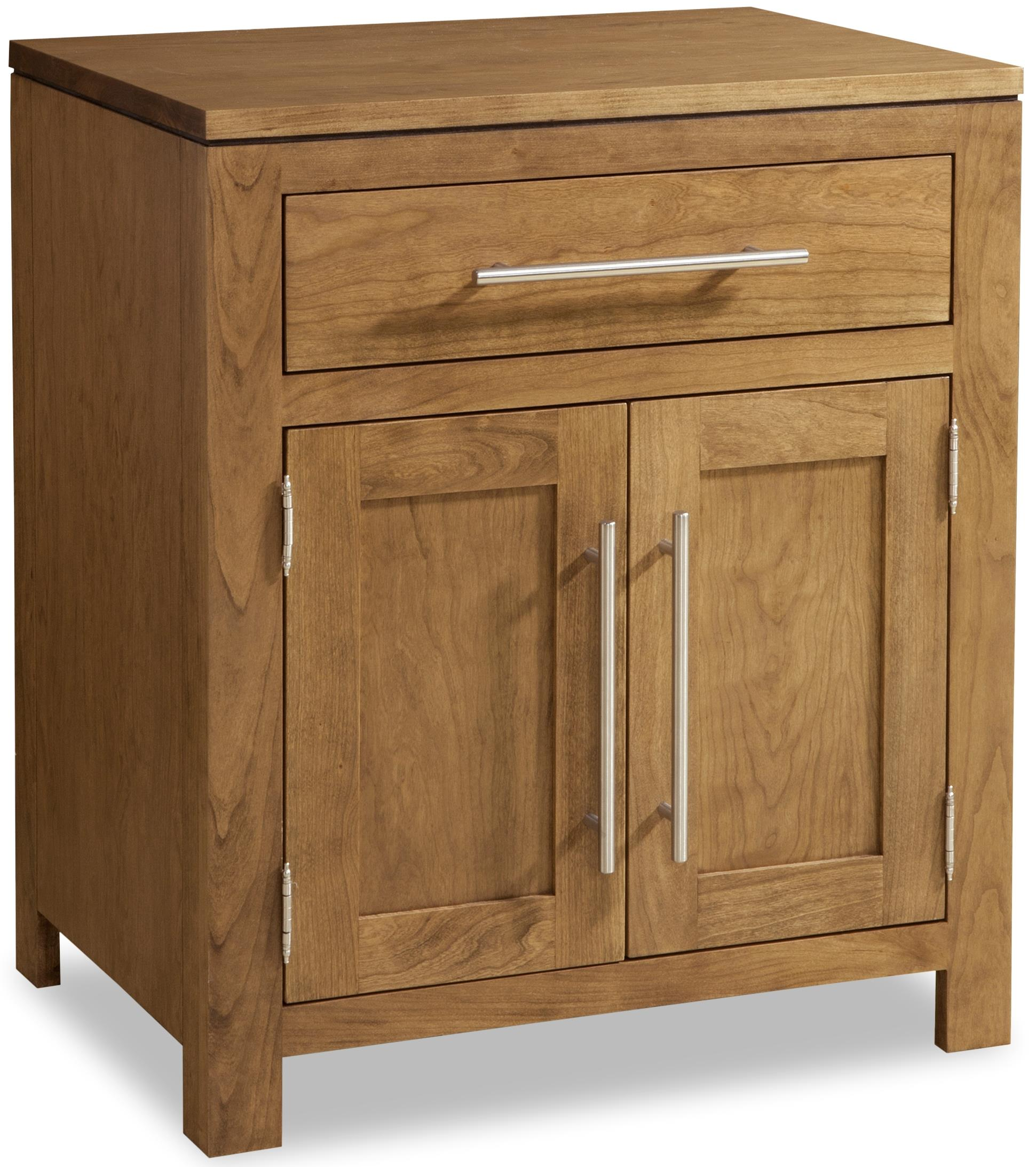 Daniel s Amish Modern 1 Drawer Nightstand with 2 Doors H
