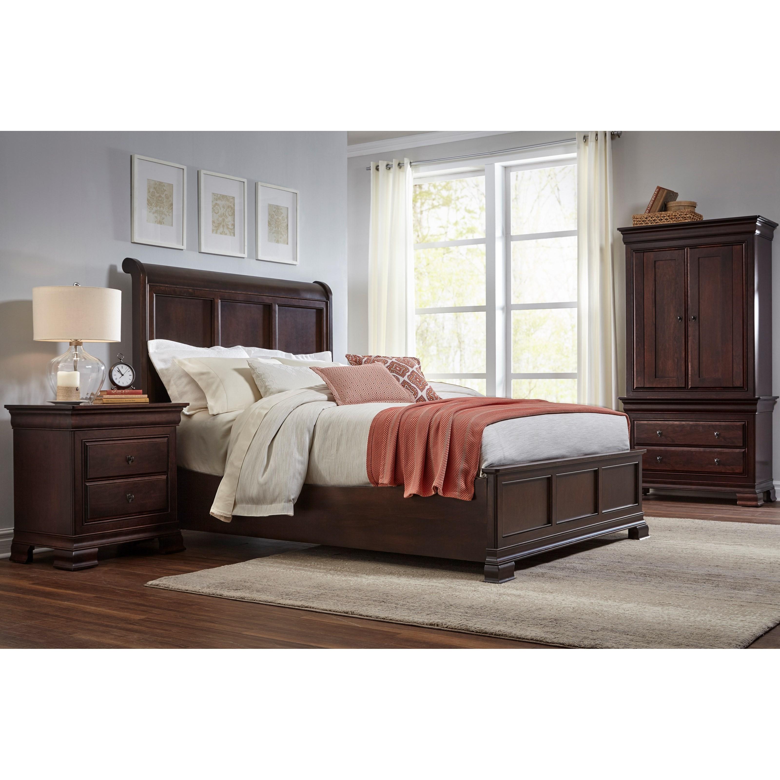 Daniel 39 S Amish Paris Queen Bedroom Group John V Schultz Furniture Bedroom Groups