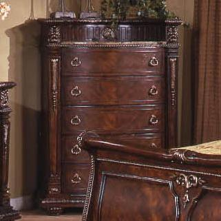 Davis Direct Coventry 5146 391 Traditional 5 Drawer Chest With Bowed Drawer Fronts And Laminated