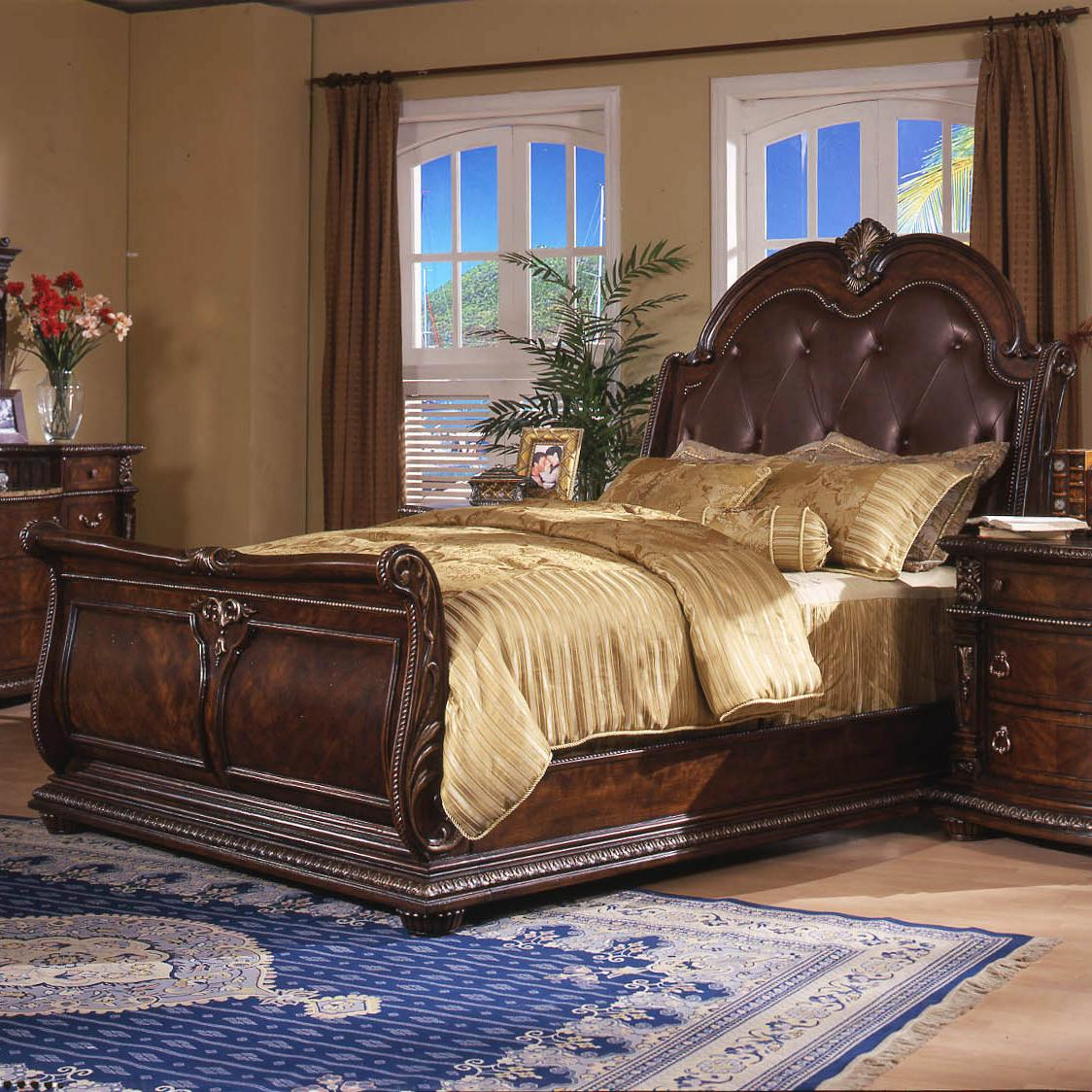 Davis direct coventry traditional king sleigh bed with for International decor bed