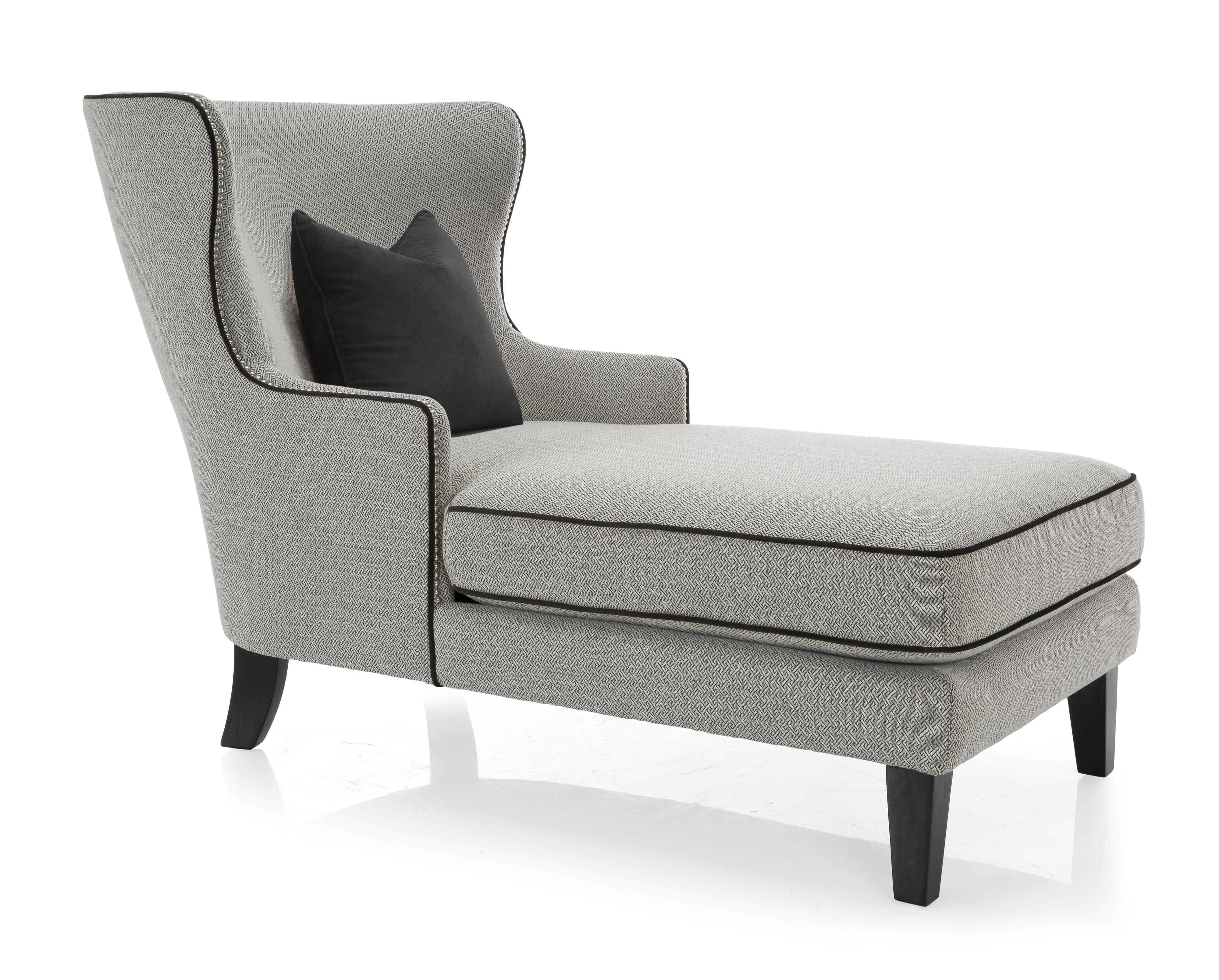 Taelor designs 2492 traditional style chaise with wing for Chaises design colorees
