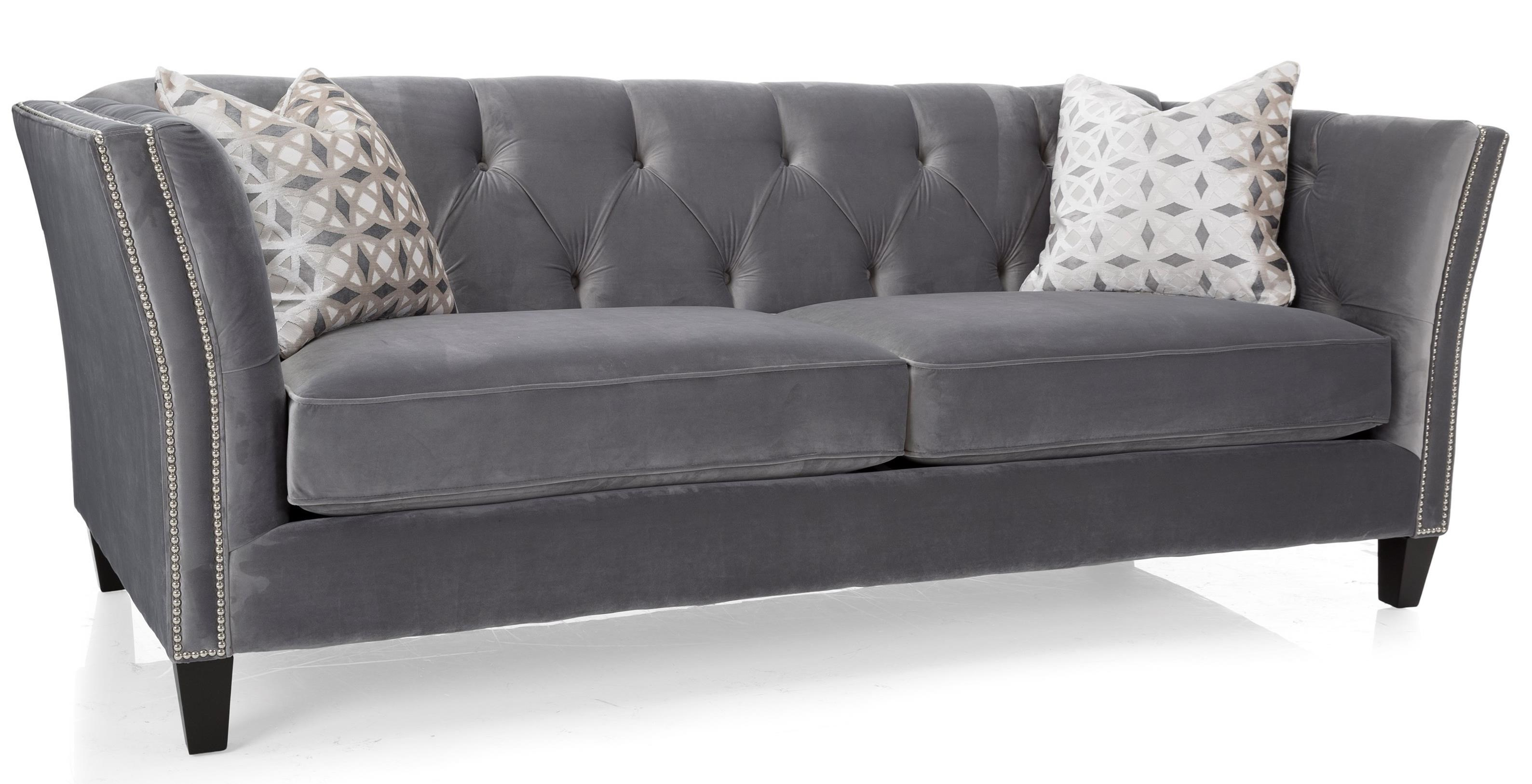 Decor Rest 2555 Traditional Sofa With Flared Arms Stoney