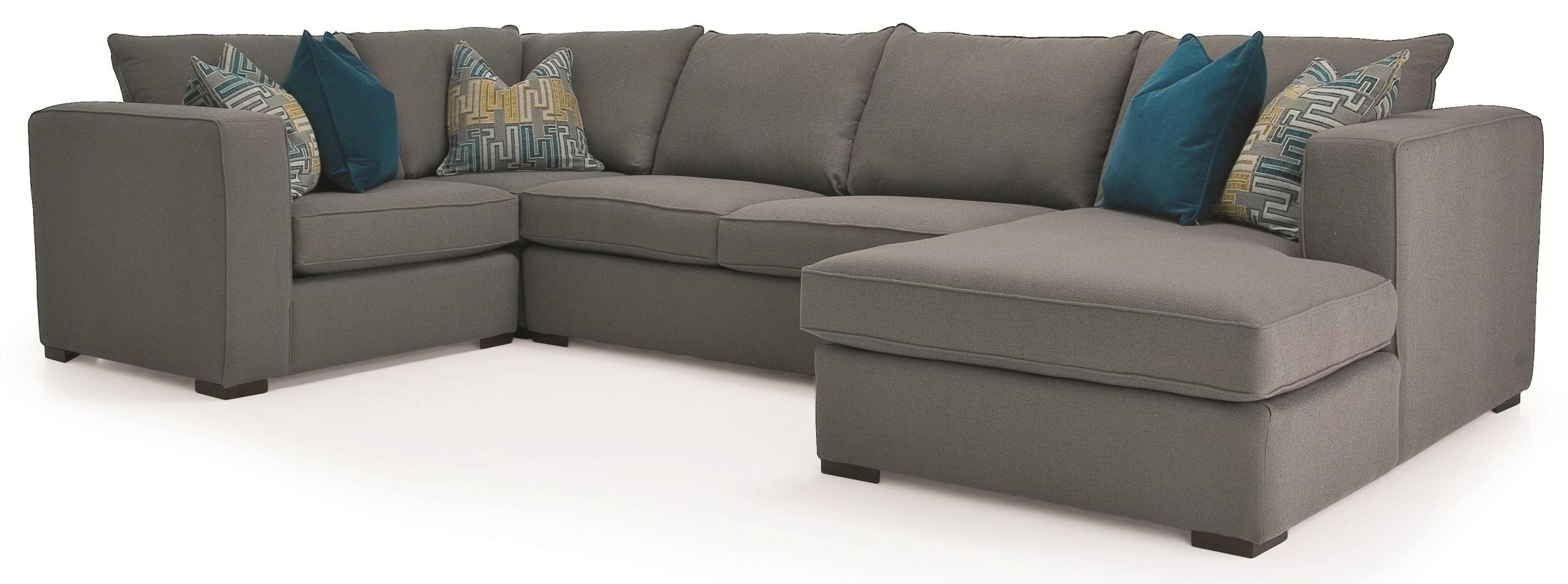 Decor rest 2900 4 piece contemporary sectional with rhf for Sofa sectionnel liquidation
