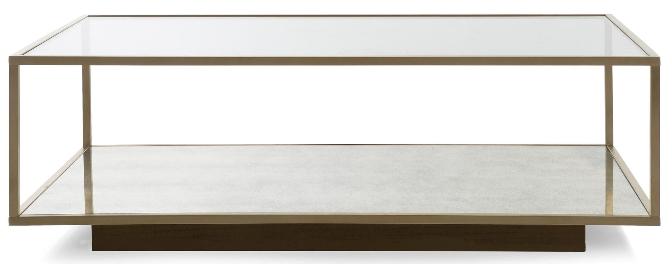 Decor Rest Milan Rectangular Coffee Table With Glass Top