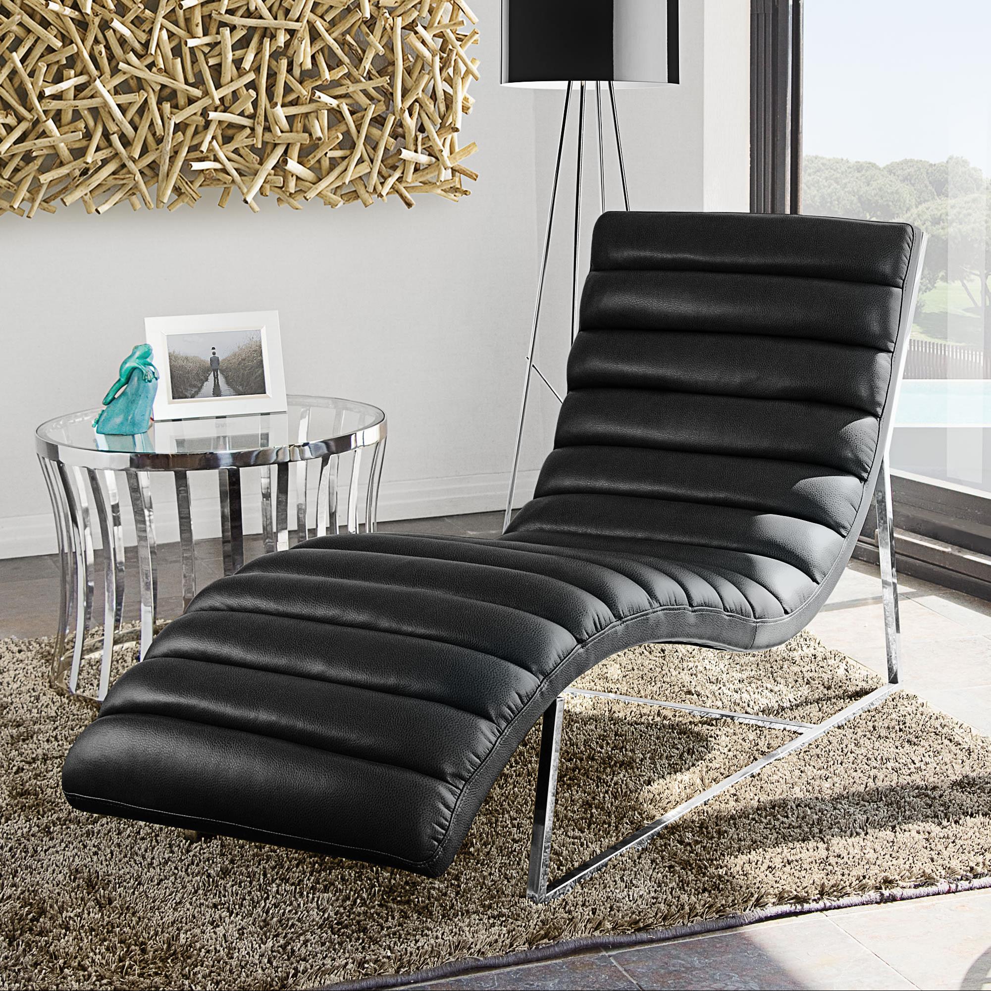 diamond sofa bardot black chaise lounge red knot chaises. Black Bedroom Furniture Sets. Home Design Ideas