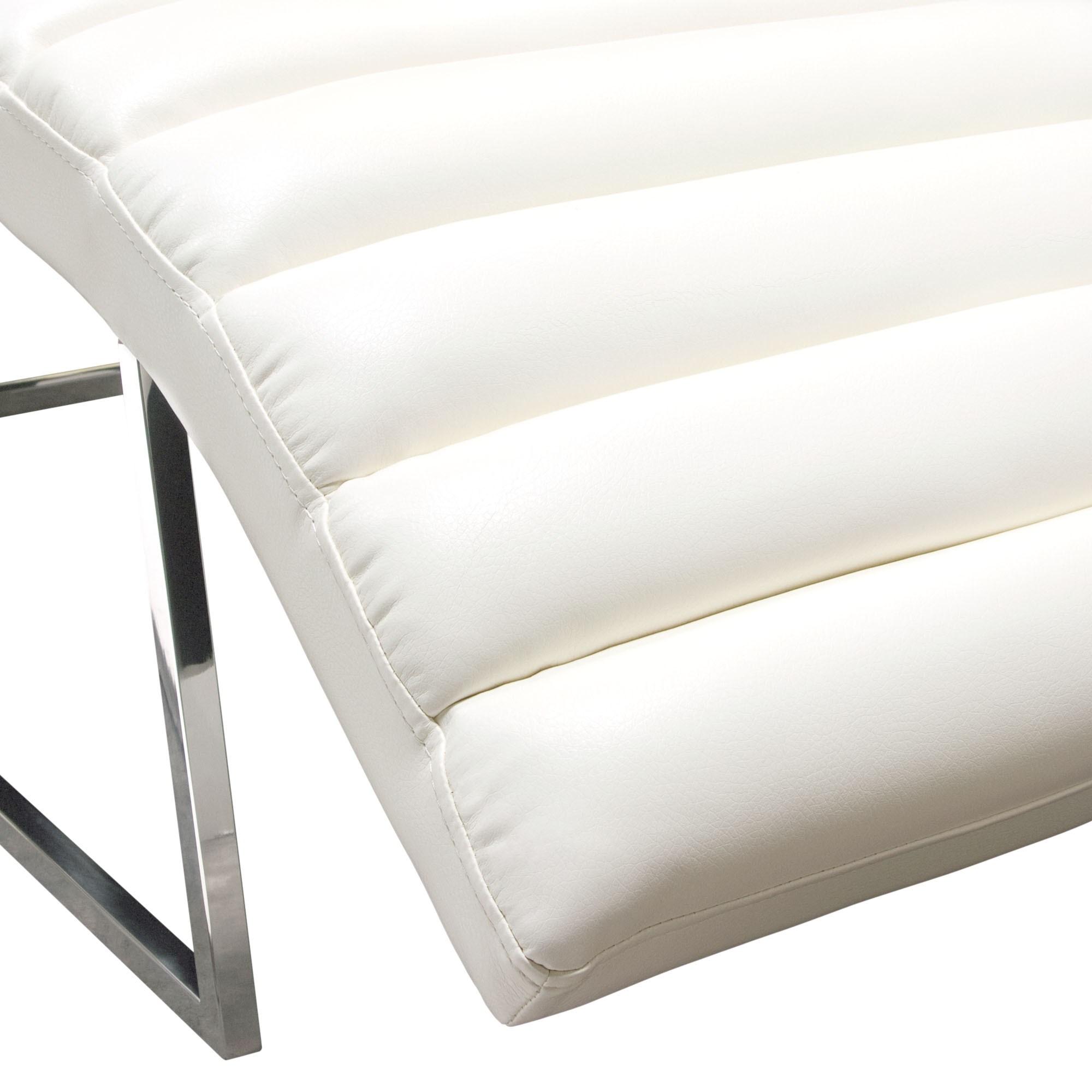 Diamond Sofa Bardot White Chaise Lounge Red Knot Chaises