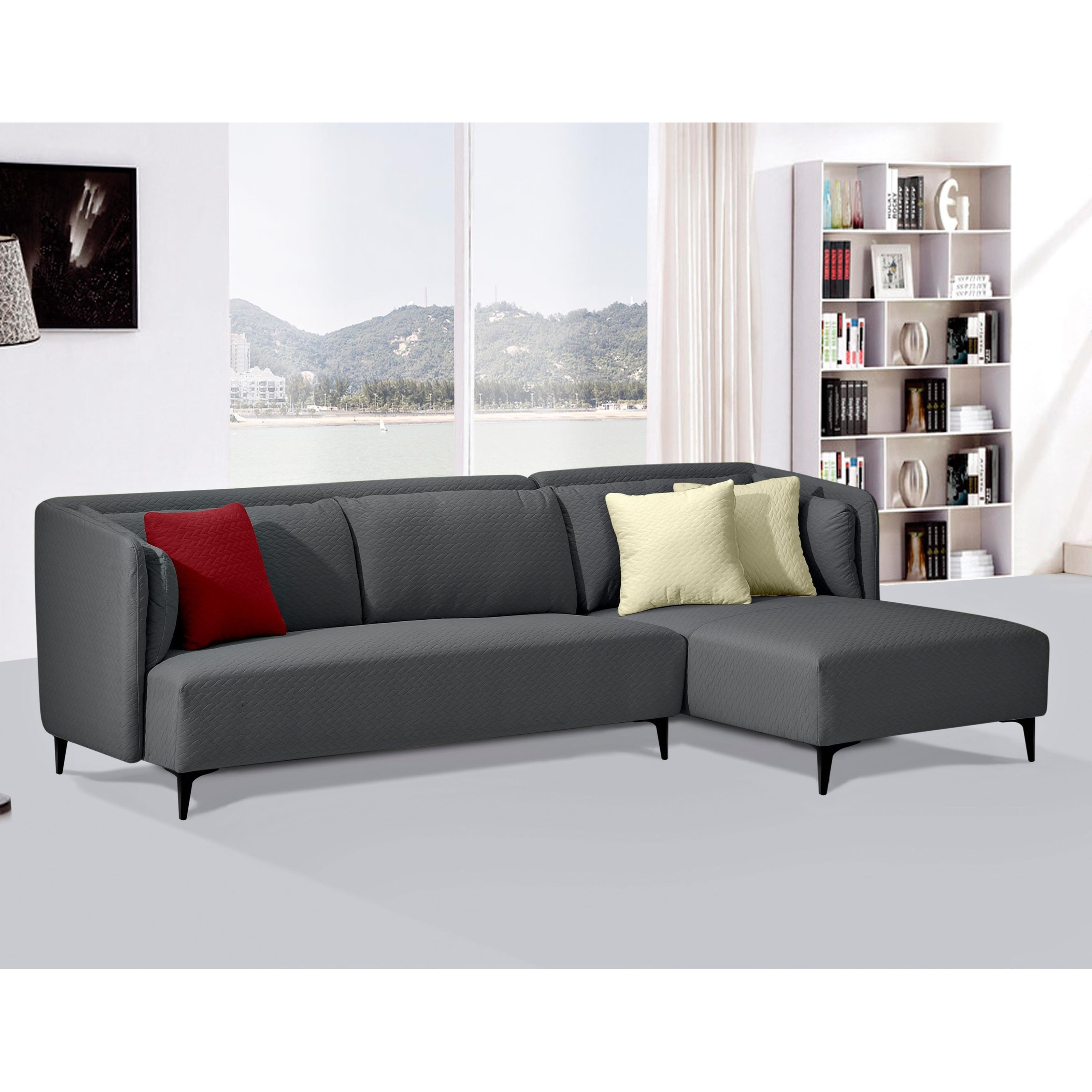 diamond sofa dylan sectional red knot sectional sofas. Black Bedroom Furniture Sets. Home Design Ideas