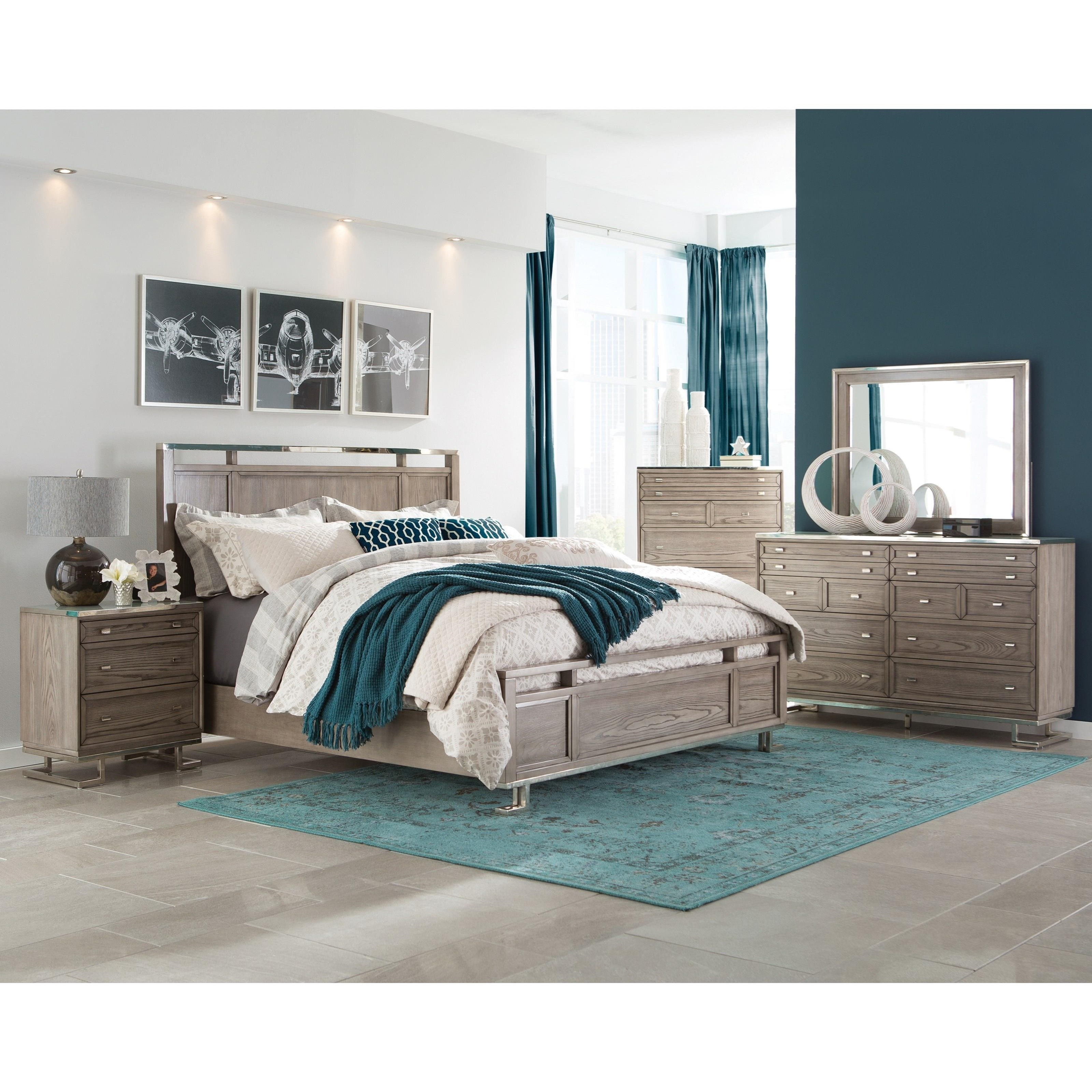 donny osmond home johnathan 205193 modern dresser with white glass top del sol furniture. Black Bedroom Furniture Sets. Home Design Ideas