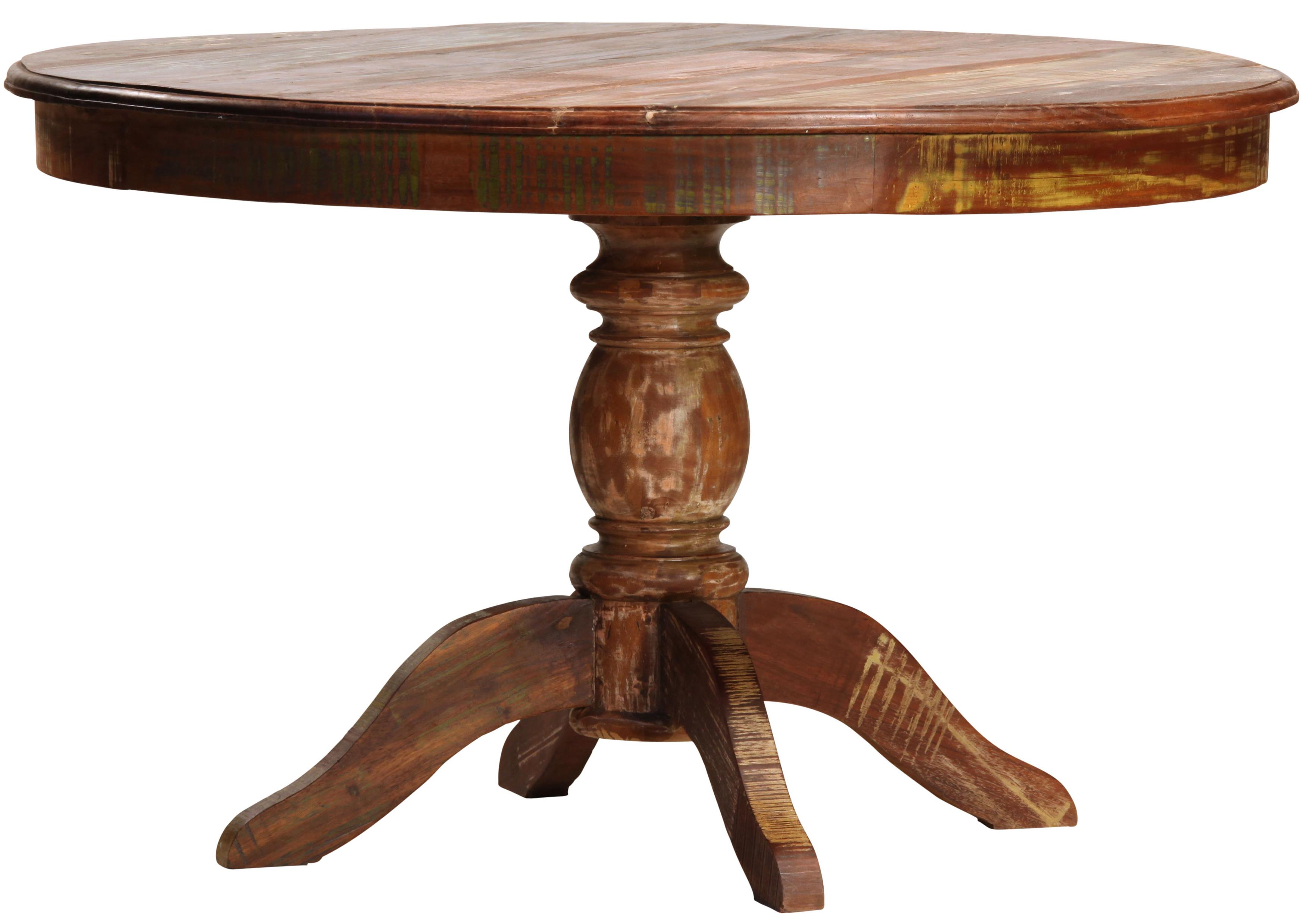 Dovetail Furniture Dovetail Round Dining Table W Pedestal