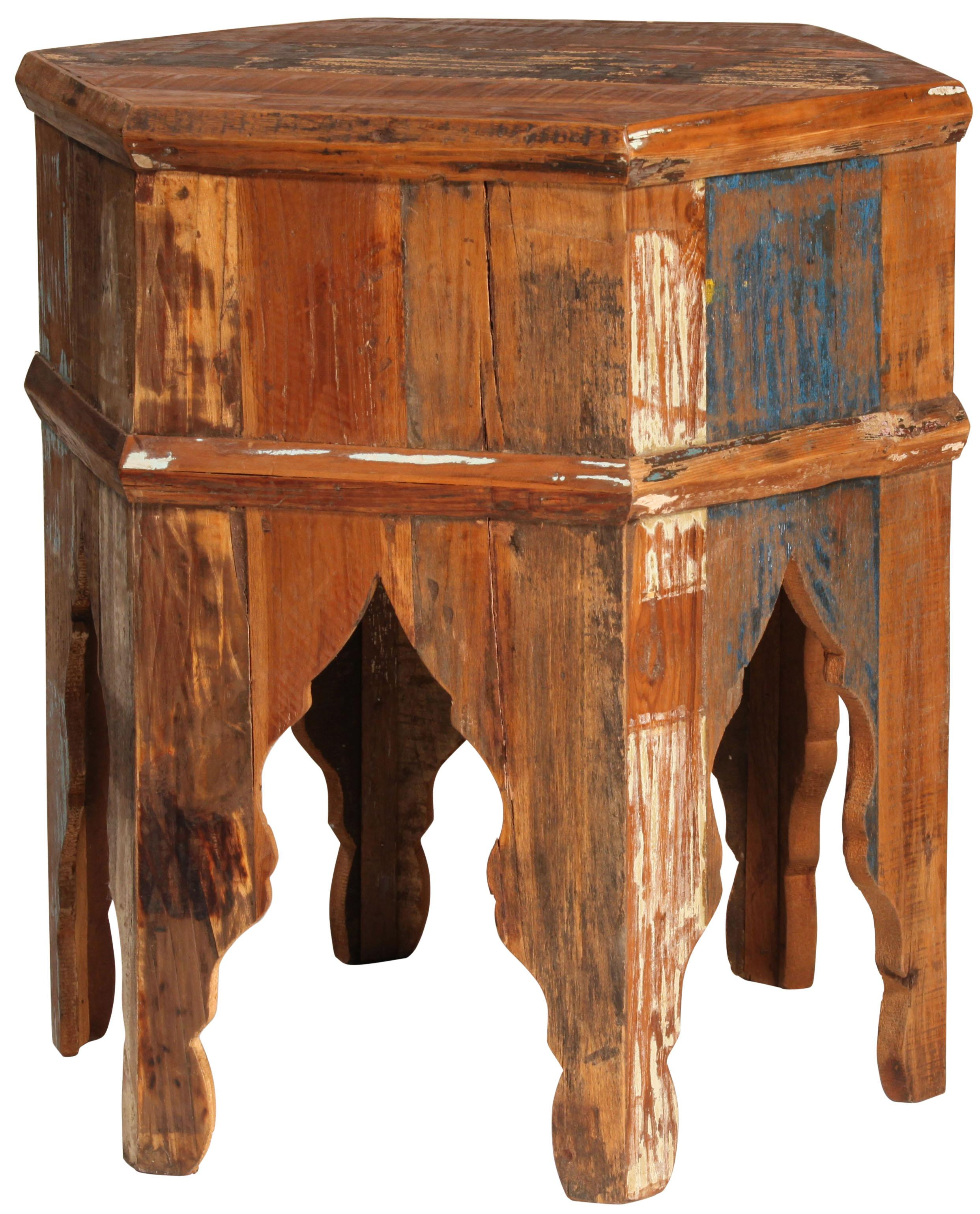 Dovetail furniture dovetail hexagon wood end table for Dovetail furniture