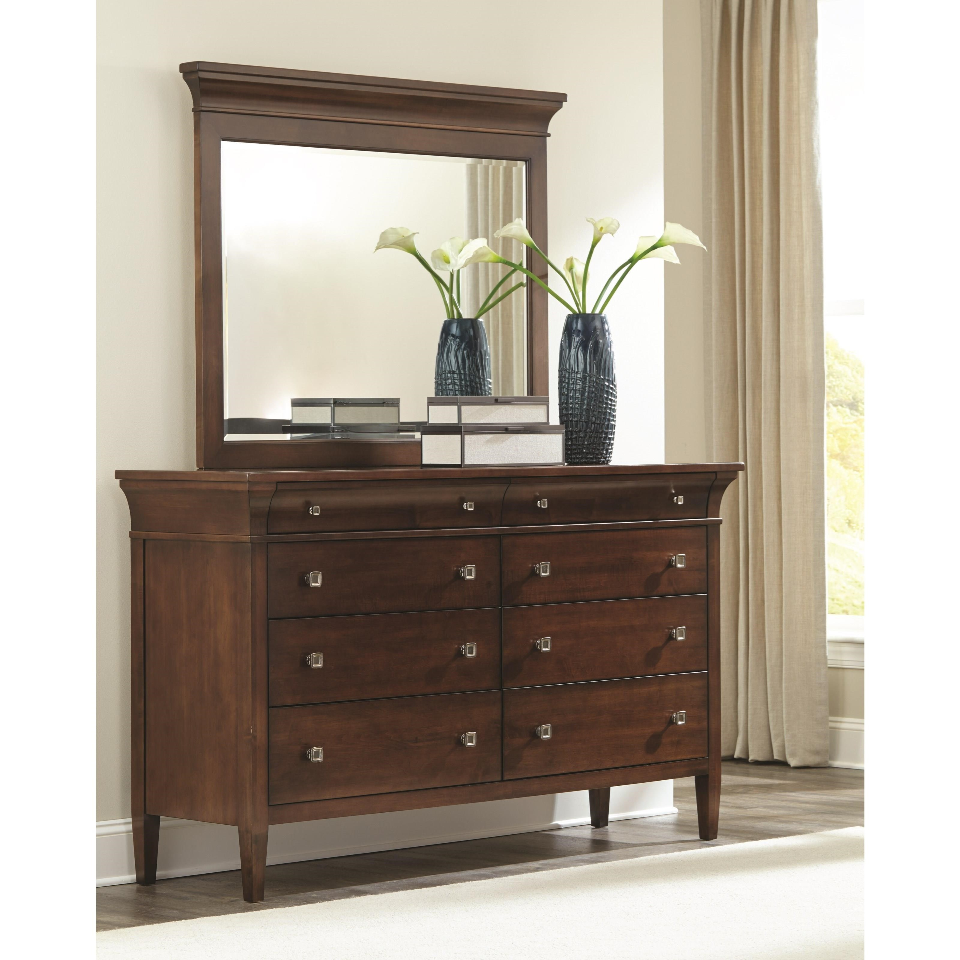 Durham prominence dresser with soft close drawers stoney creek furniture dressers for Bedroom furniture soft close drawers