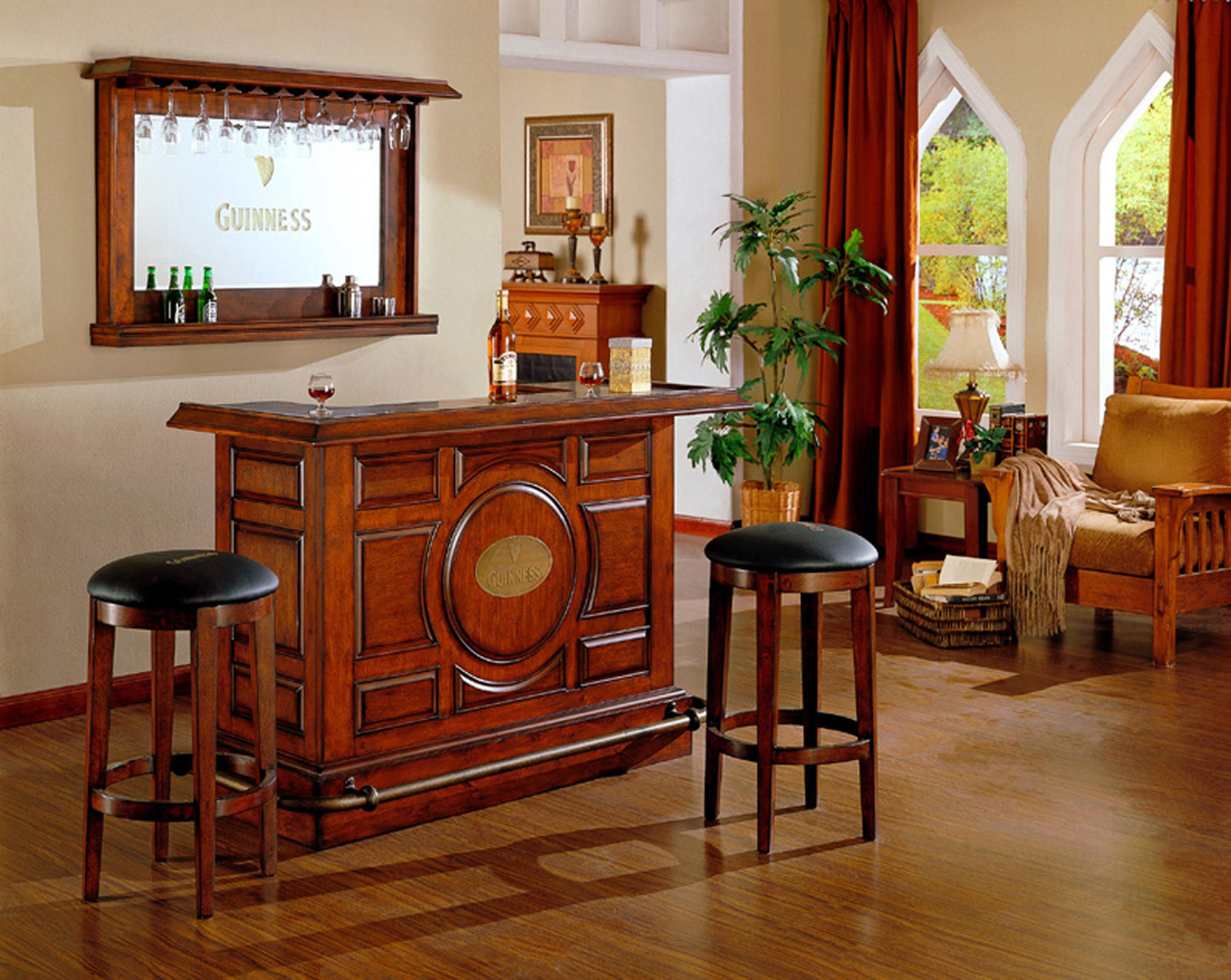 E C I Furniture Bars Guinness Bar With Etched Logo Mirror Dunk Bright Furniture Bars