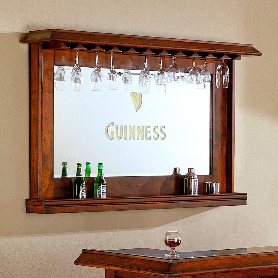 E C I Furniture Guinness Bar Back Bar With Mirror Wayside Furniture Wall Mirror