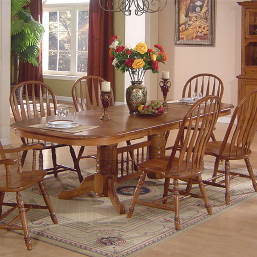 E c i furniture solid oak dining solid oak dining table for Oak dining room chairs