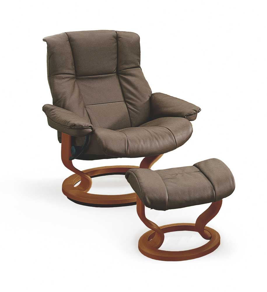 stressless by ekornes stressless recliners 1731015 mayfair medium reclining chair and ottoman. Black Bedroom Furniture Sets. Home Design Ideas