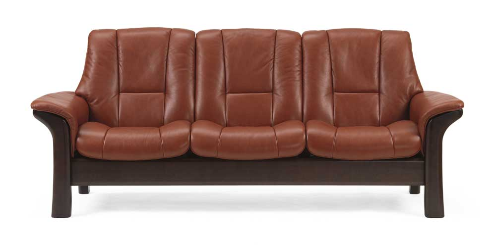 stressless stressless windsor 1193030 low back reclining sofa dunk bright furniture. Black Bedroom Furniture Sets. Home Design Ideas