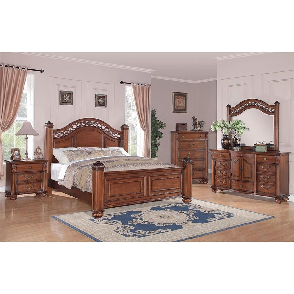 Elements international barkley square traditional queen for Bedroom groups