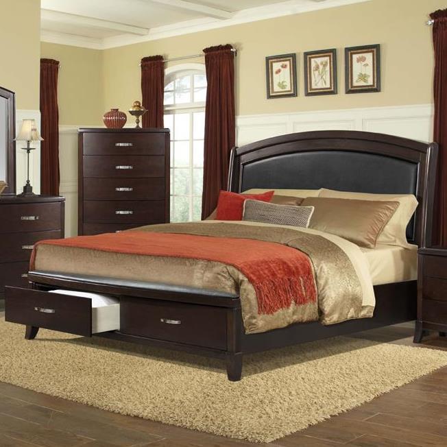 elements delaney king low profile bed with storage footboard royal furniture platform beds. Black Bedroom Furniture Sets. Home Design Ideas
