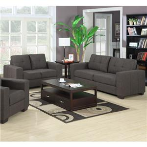Elements International Denali Contemporary Sofa with