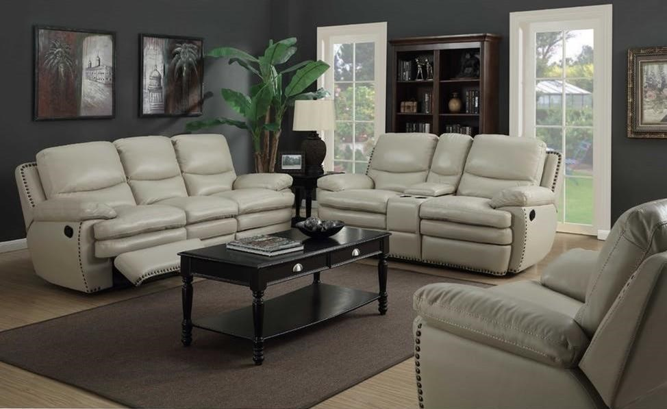 Elements International Glasgow Upholstery Uglxx285p Power Reclining Loveseat With Center Console