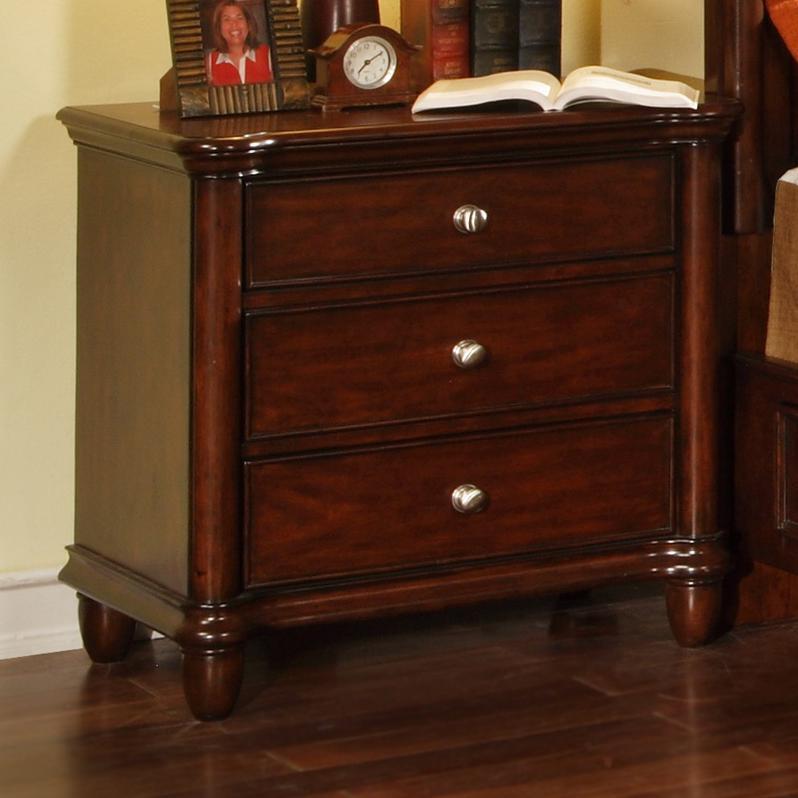Elements international hamilton 3 drawer night stand for Ivan smith furniture