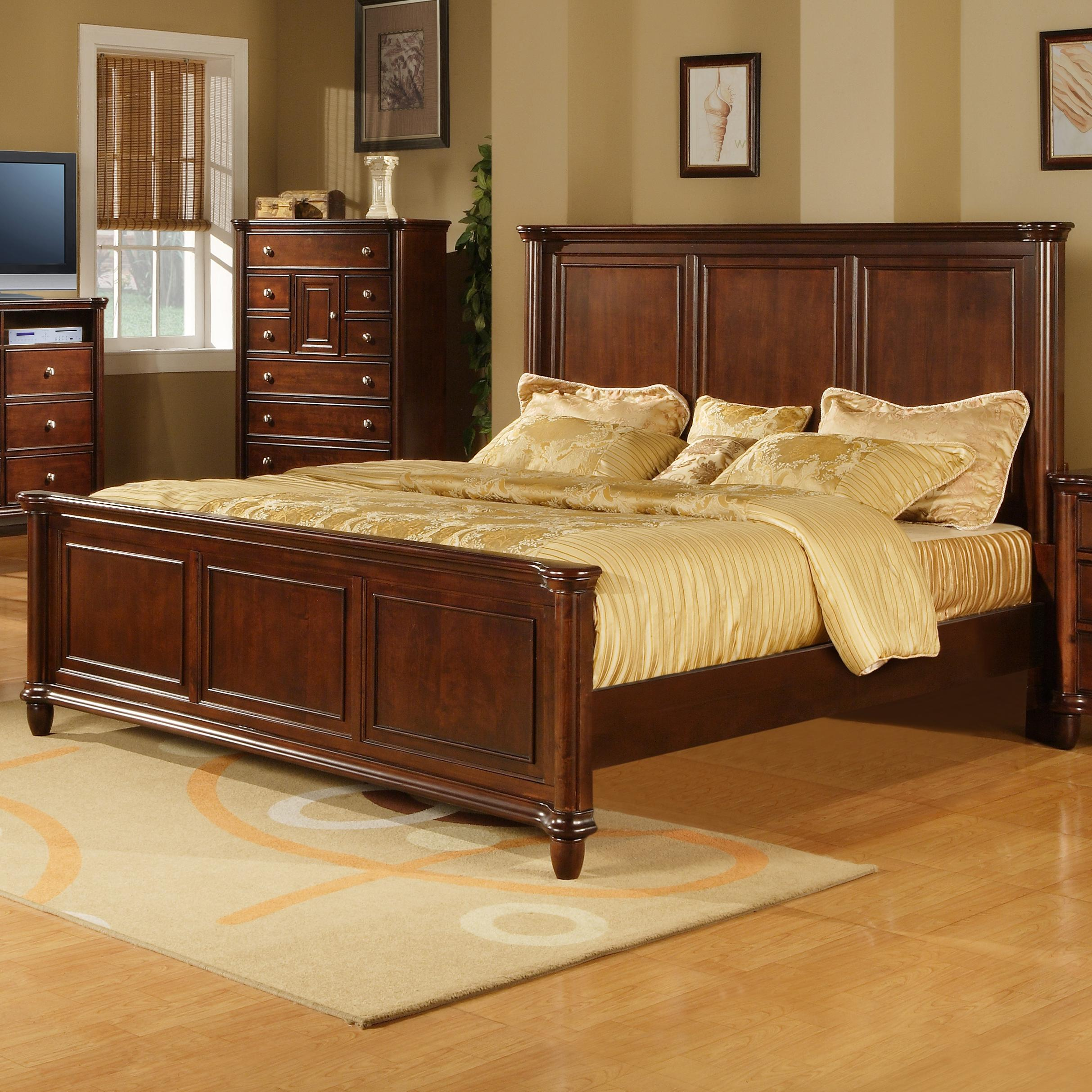 Elements International Hamilton Queen Transitional Rich Brown Panel Bed Ivan Smith Furniture