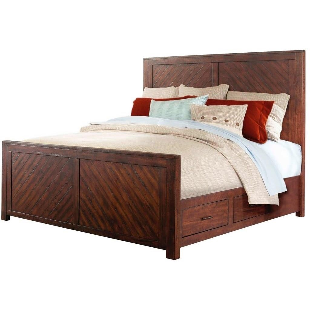 Elements international jax rustic queen storage bed for International decor bed