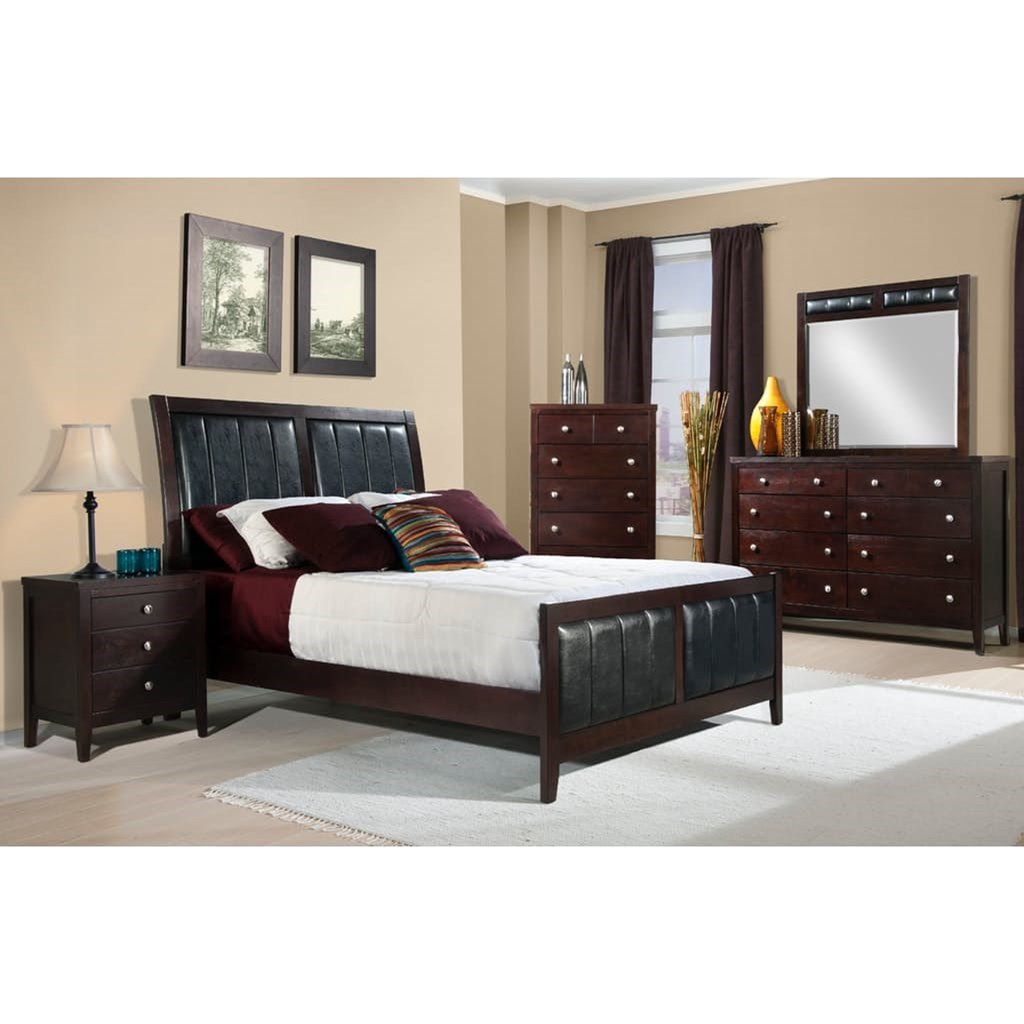 Elements international lawrence full bedroom group for Bedroom furniture groups