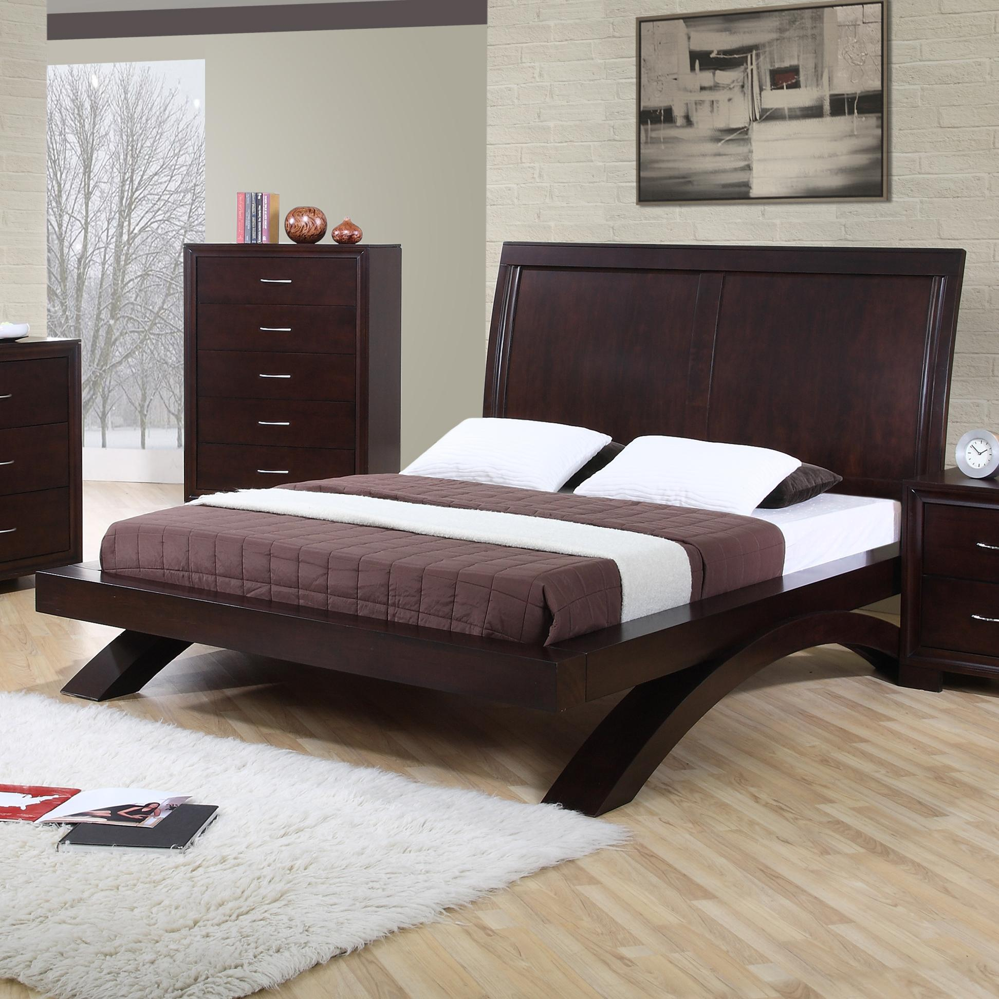 Elements international raven rv100qb contemporary queen platform bed becker furniture world Home furniture online prices