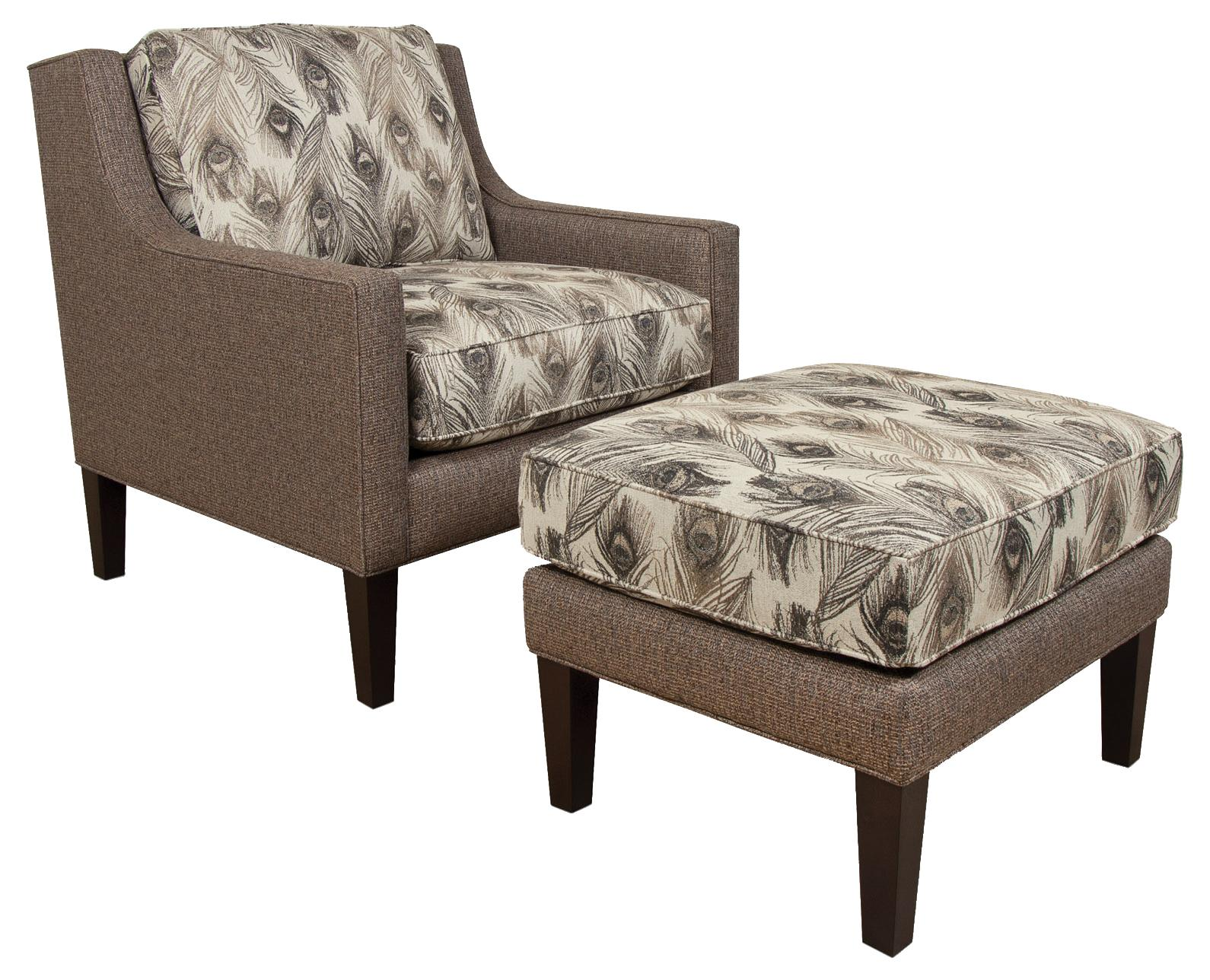 Wonderful image of  Ottoman with Rectangle Shape Charleston Furniture Chair & Ottoman with #31261E color and 1590x1288 pixels