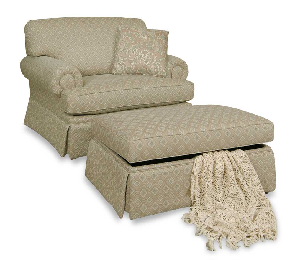England cambria accent chair and storage ottoman dunk for Ottoman storage chair