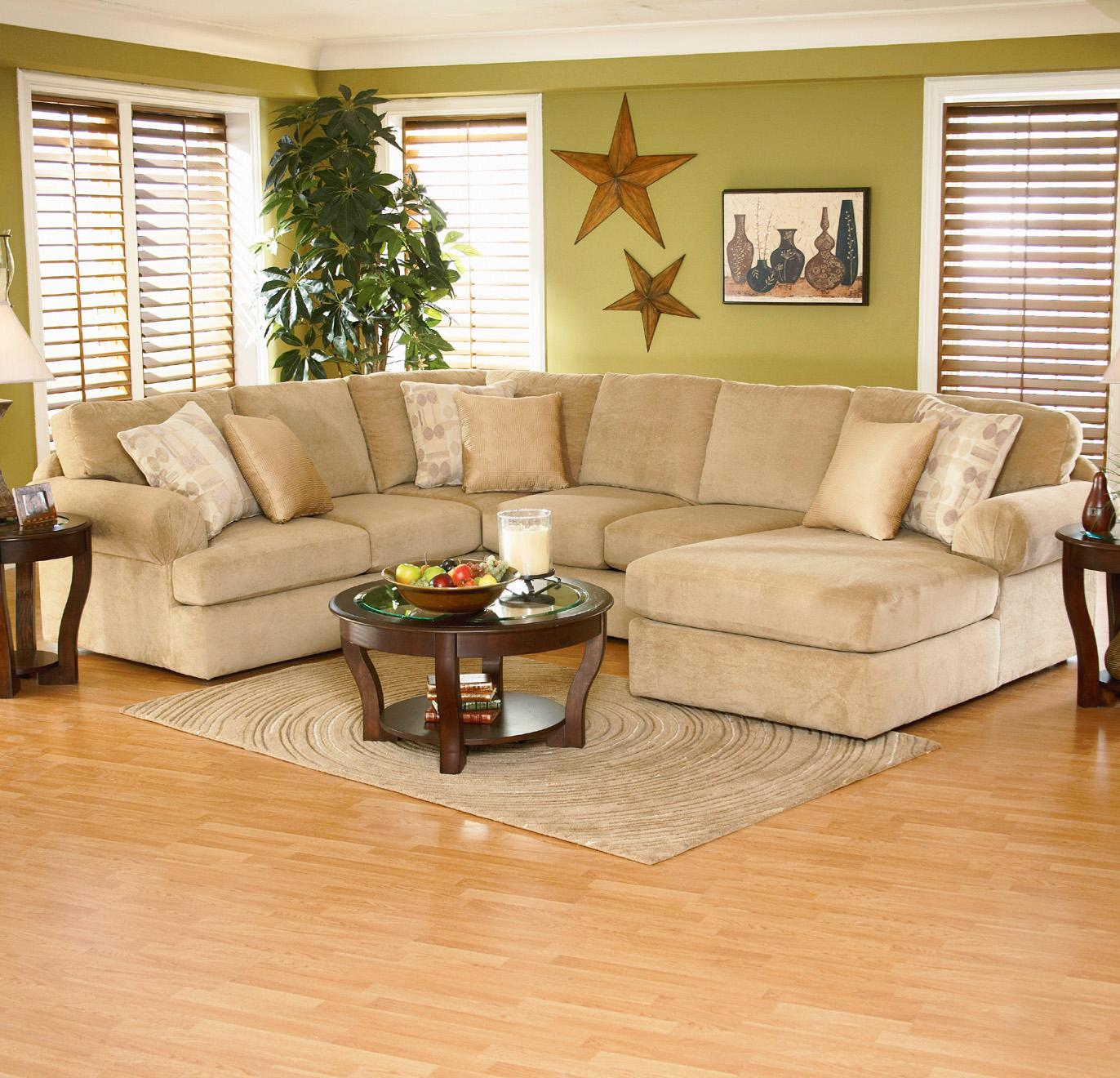 England Abbie Right Chaise Sectional Sofa With Large Cushions Novello Home Furnishings Sofa
