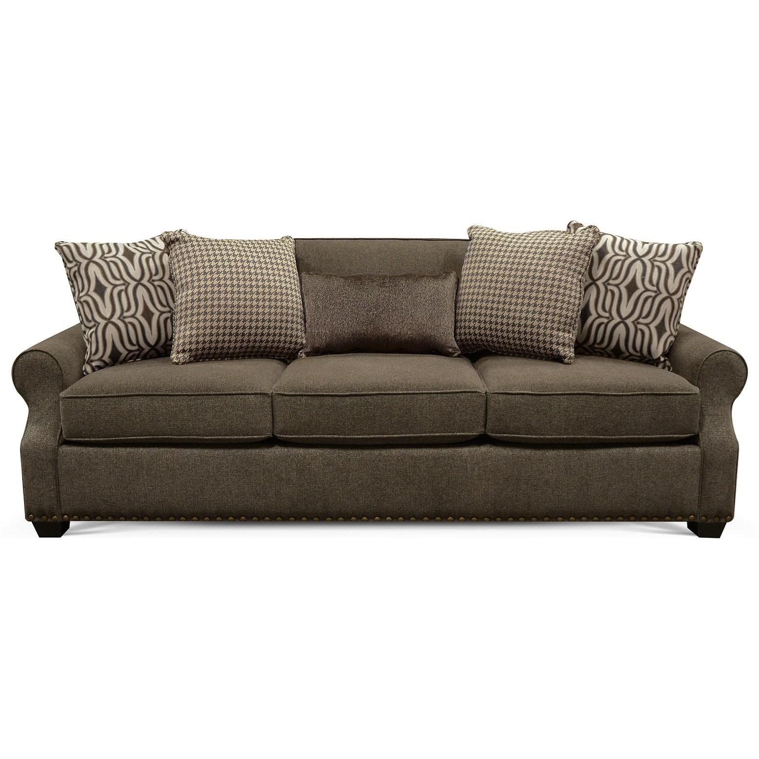 England adele sofa with nailheads van hill furniture sofas for Sofa 400 euro