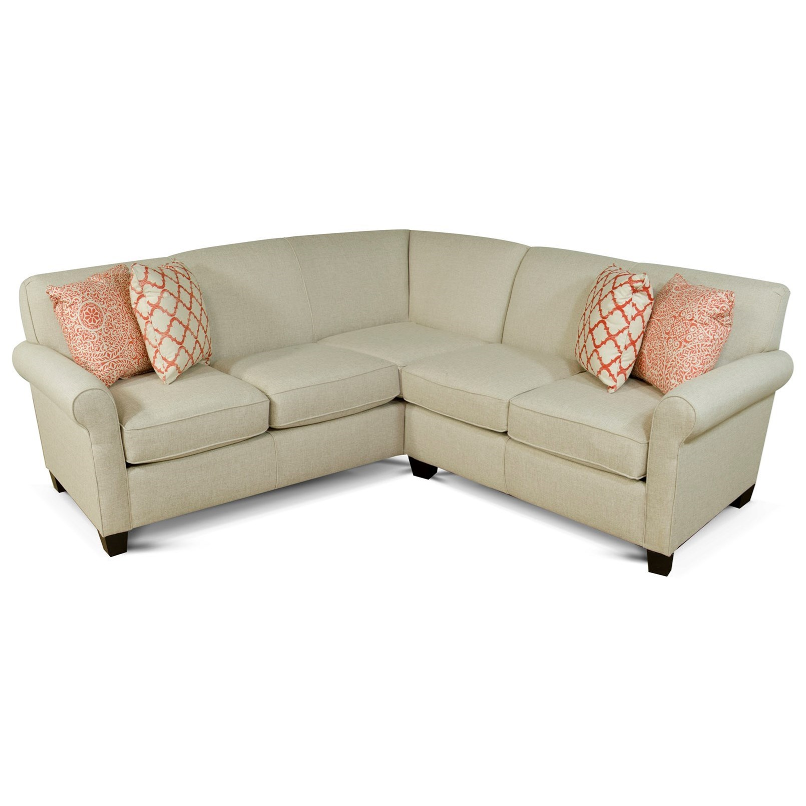 England angie small corner sectional sofa reeds for What is a small couch called