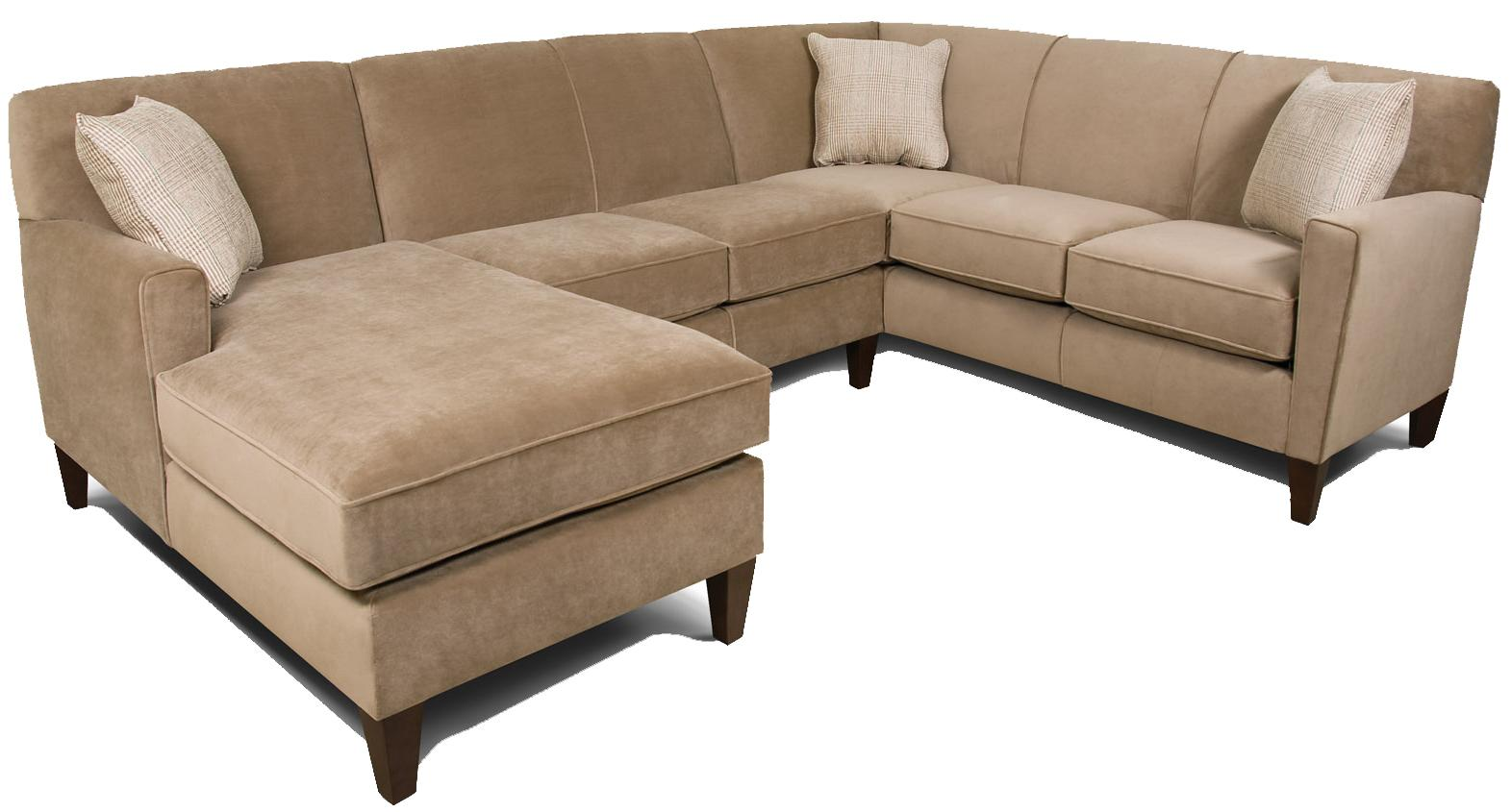 England collegedale contemporary 3 piece sectional sofa for England furniture