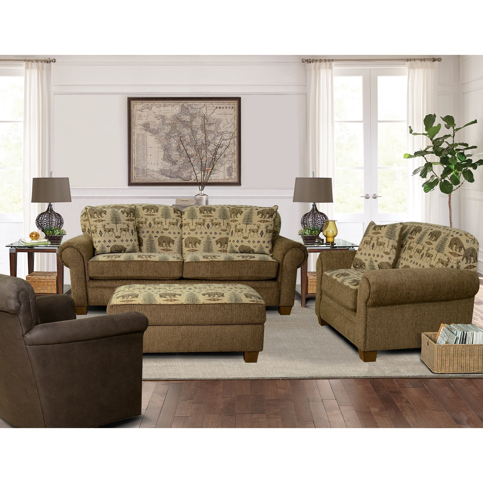 England edgar stationary living room group coconis for Living room furniture groups