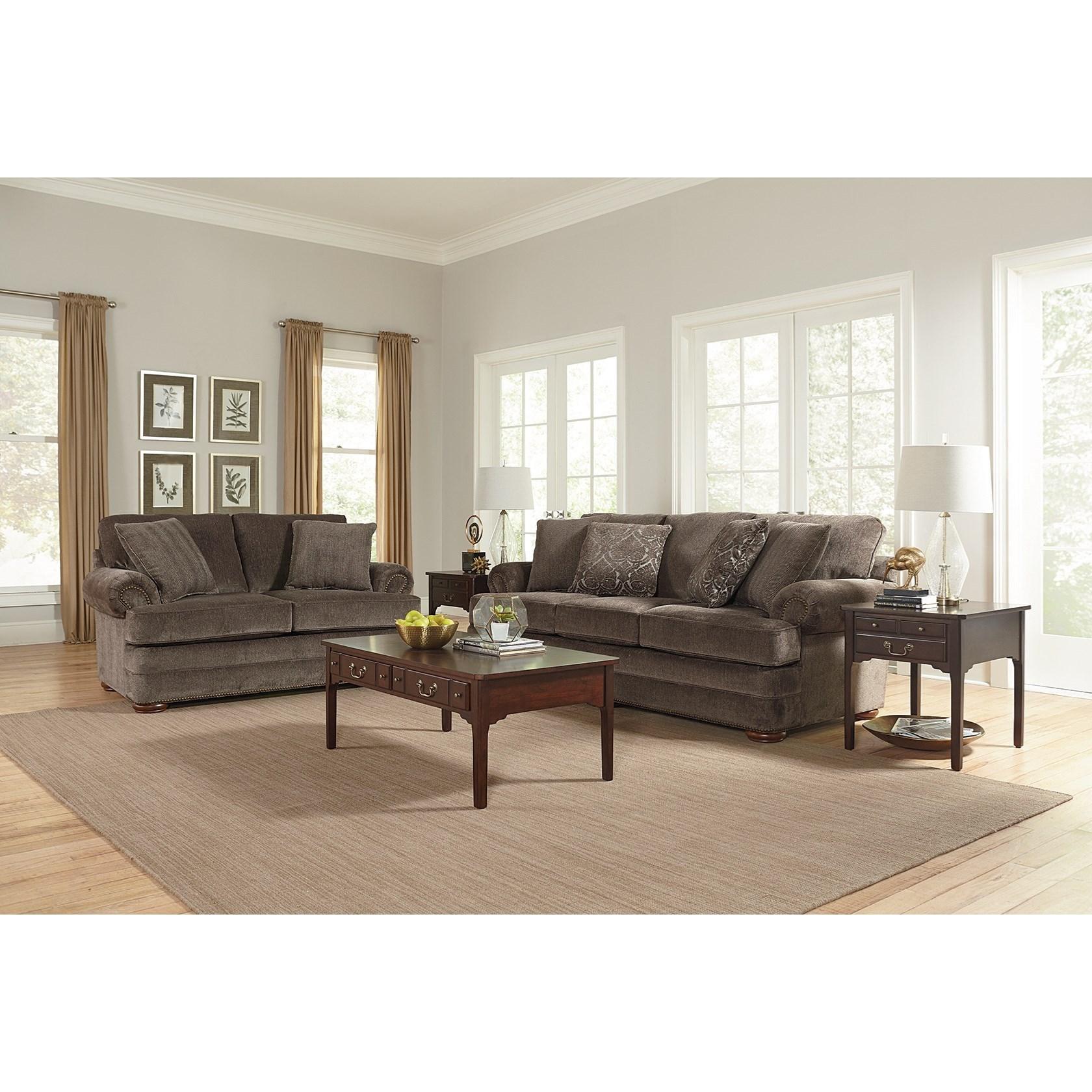England Knox Stationary Living Room Group Van Hill