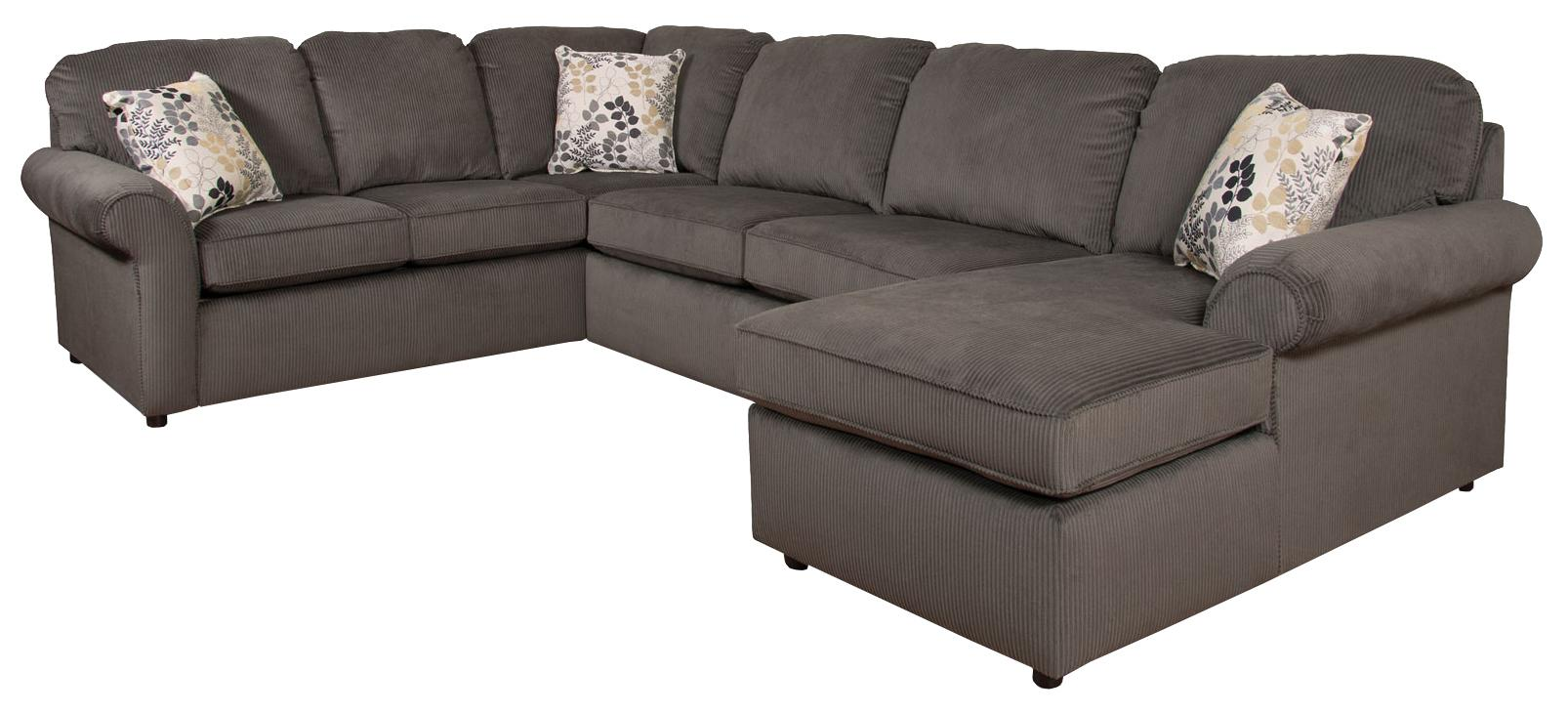 England malibu 5 6 seat right side chaise sectional sofa for Couch furniture