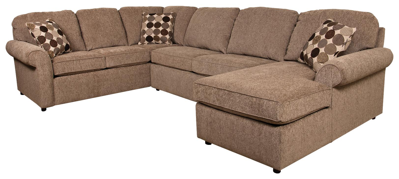England malibu 5 6 seat right side chaise sectional sofa for Sofa 6 seater