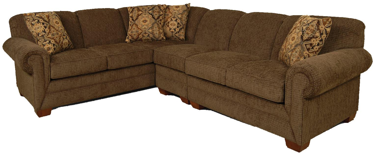 England monroe 3 piece sectional sofa with laf loveseat for England furniture sectional sofa