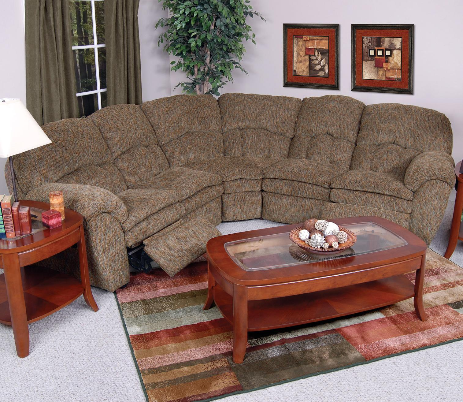 England Oakland 720022 59 60 Upholstered Reclining Sectional Furniture And Appliancemart