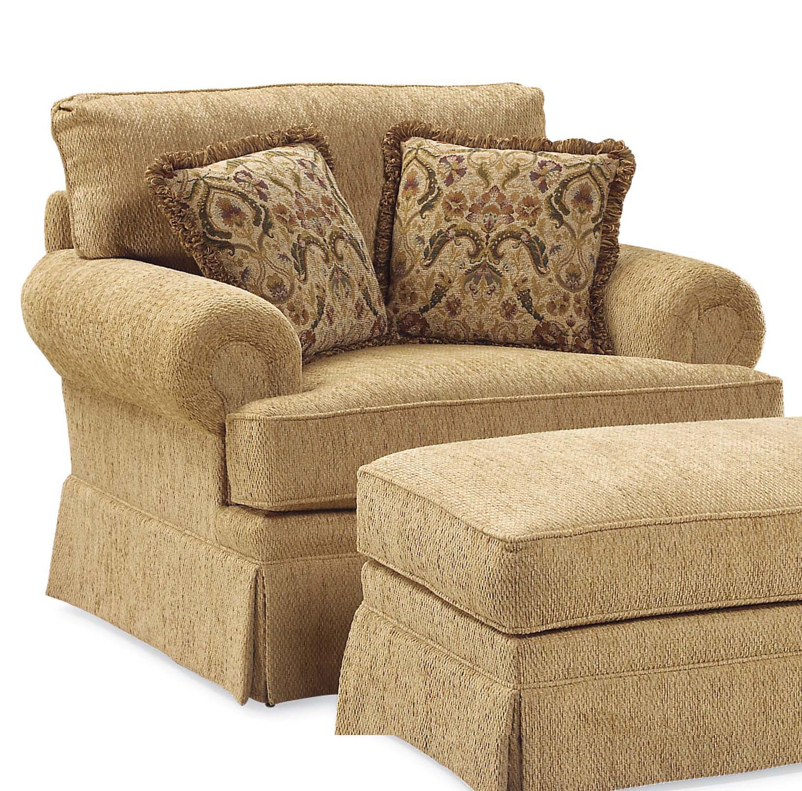 Fairfield 3736 Oversized Skirted Lounge Chair Jacksonville Furniture Mart