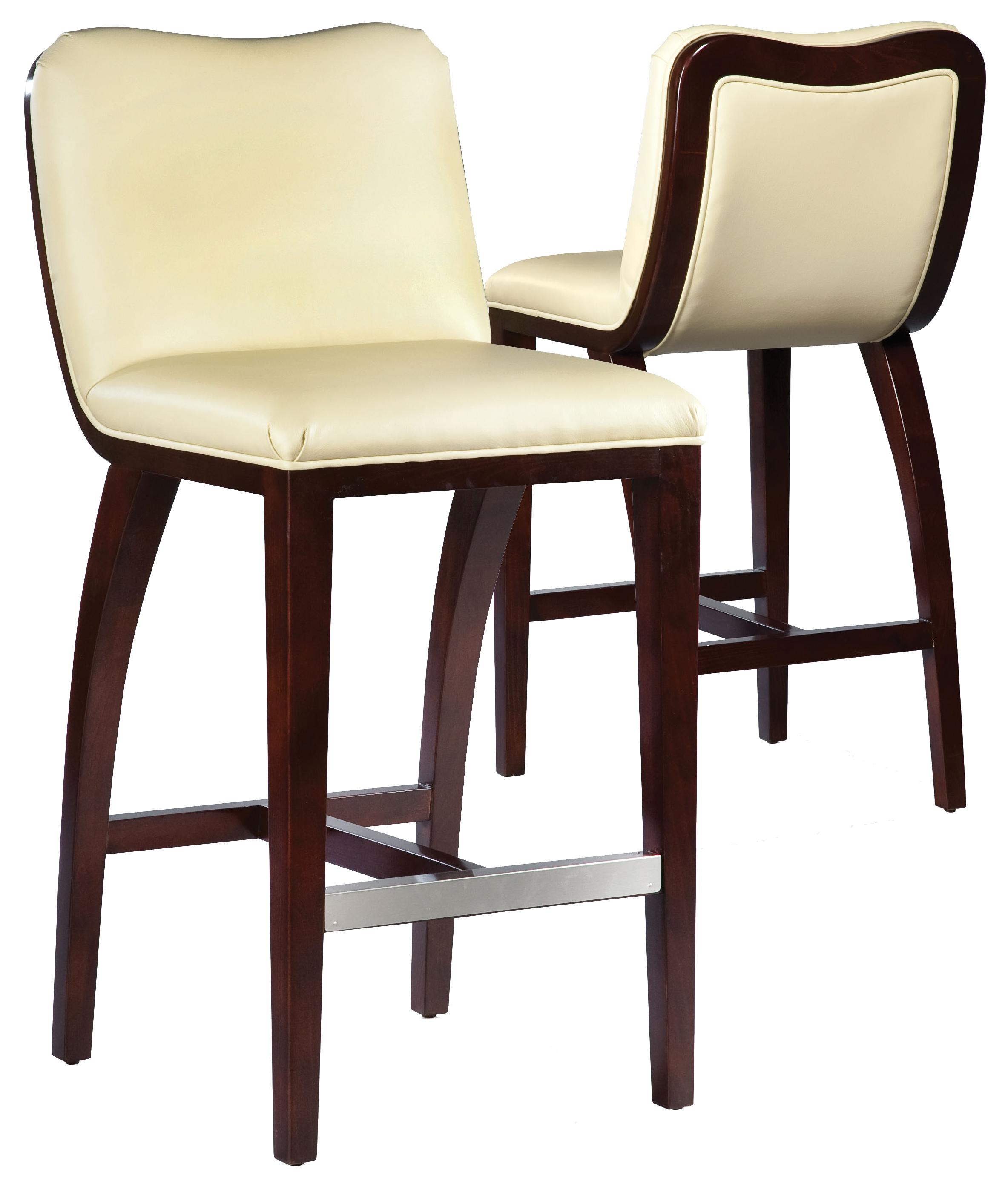 Fairfield Barstools High End Bar Stool With Decorative Exposed Wood Curve Back Jacksonville
