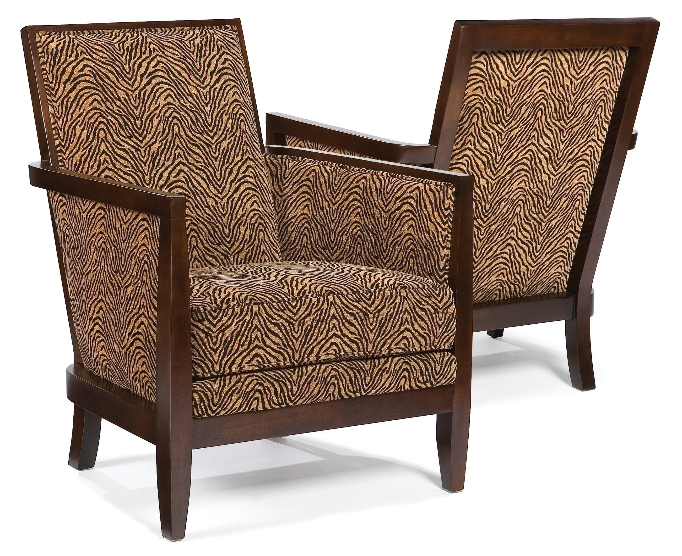 Exposed Wood Furniture ~ Fairfield chairs contemporary geometric exposed wood chair