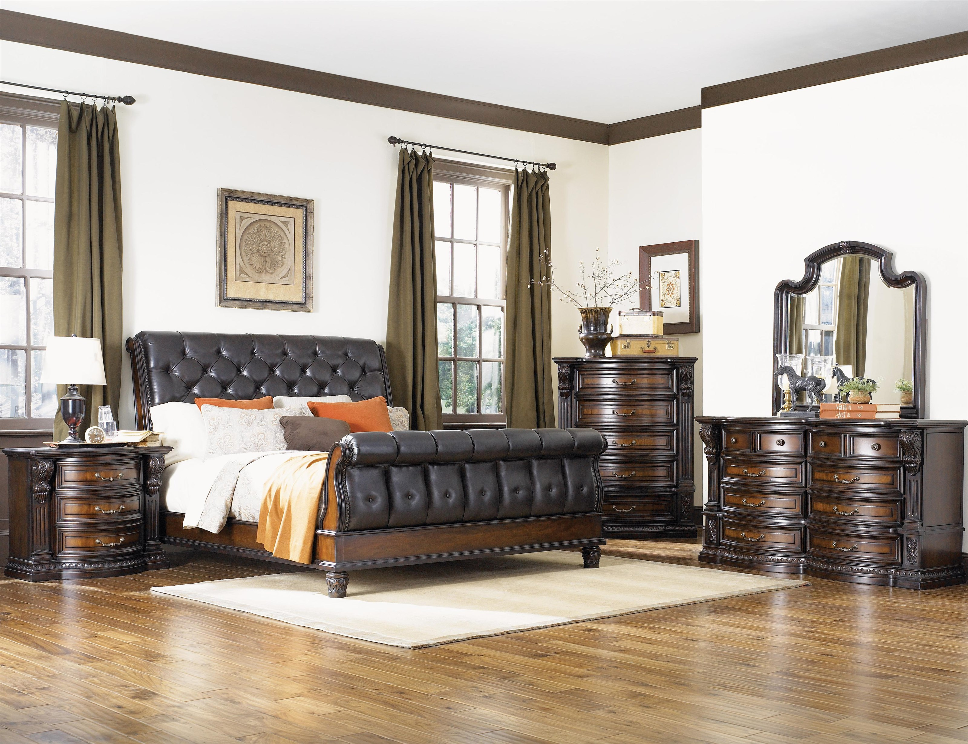 Fairmont Designs Grand Estates Queen 5 Piece Bedroom Group ...