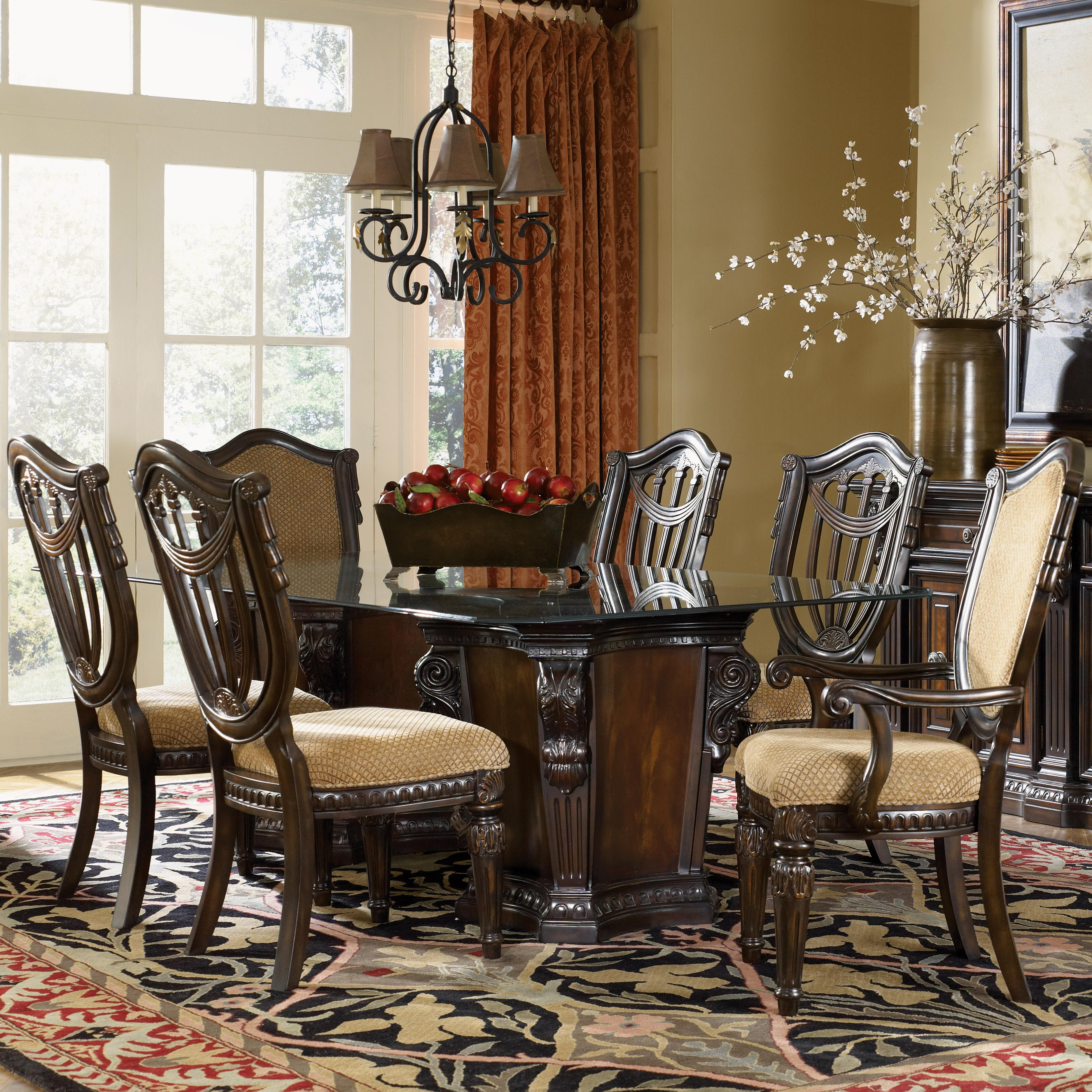 7 piece glass dining