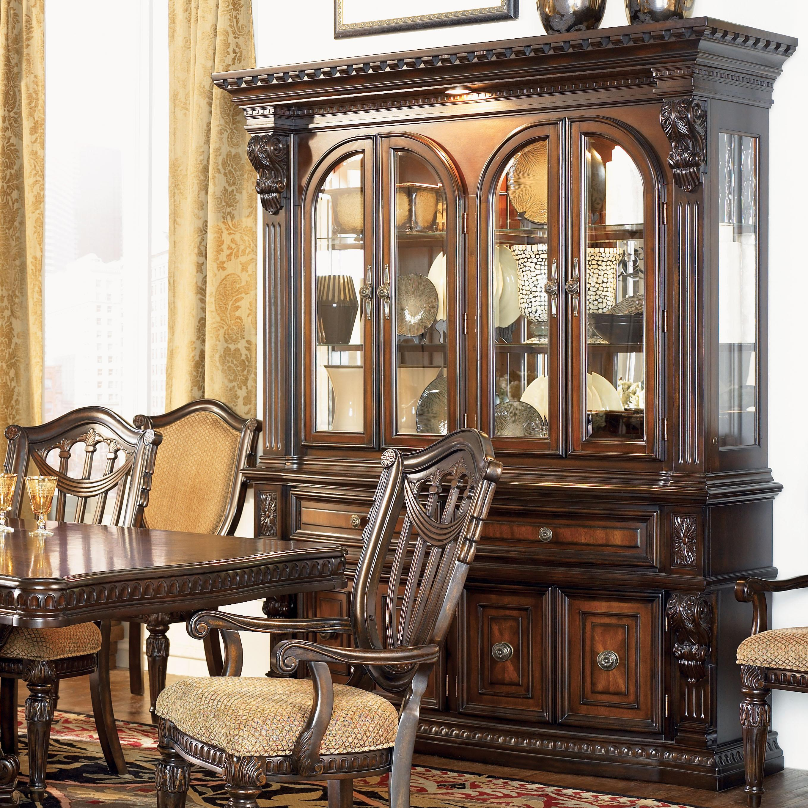Fairmont Designs Grand Estates China Cabinet Hutch Royal Furniture China Cabinets
